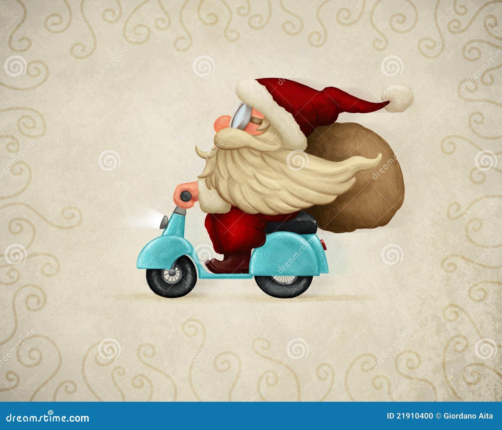 Il Babbo Natale motorizzato