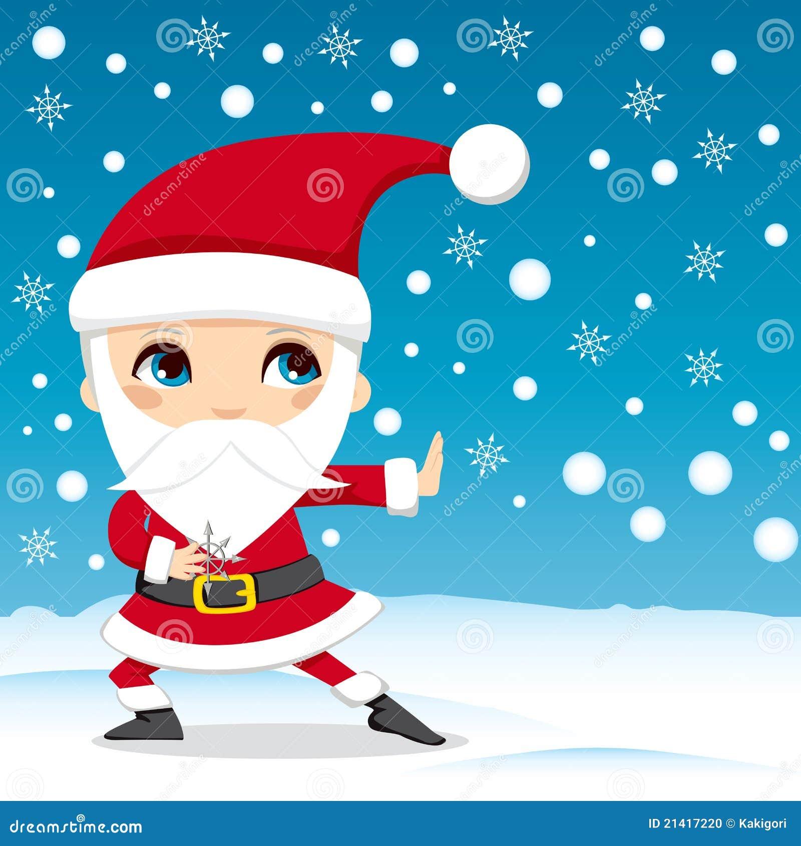 Immagini Karate Natale.Il Babbo Natale Ninja Illustrazione Vettoriale