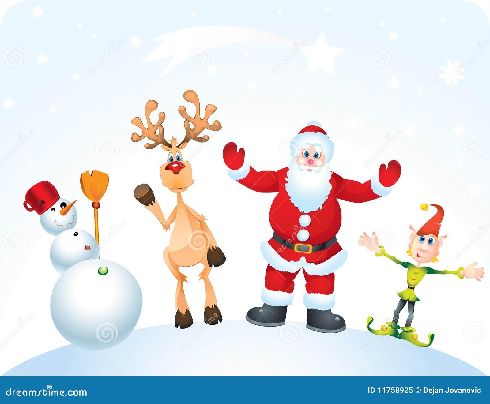 Babbo Natale E Gli Elfi.Babbo Natale E Gli Elfi Immagini Disegni Di Natale 2019