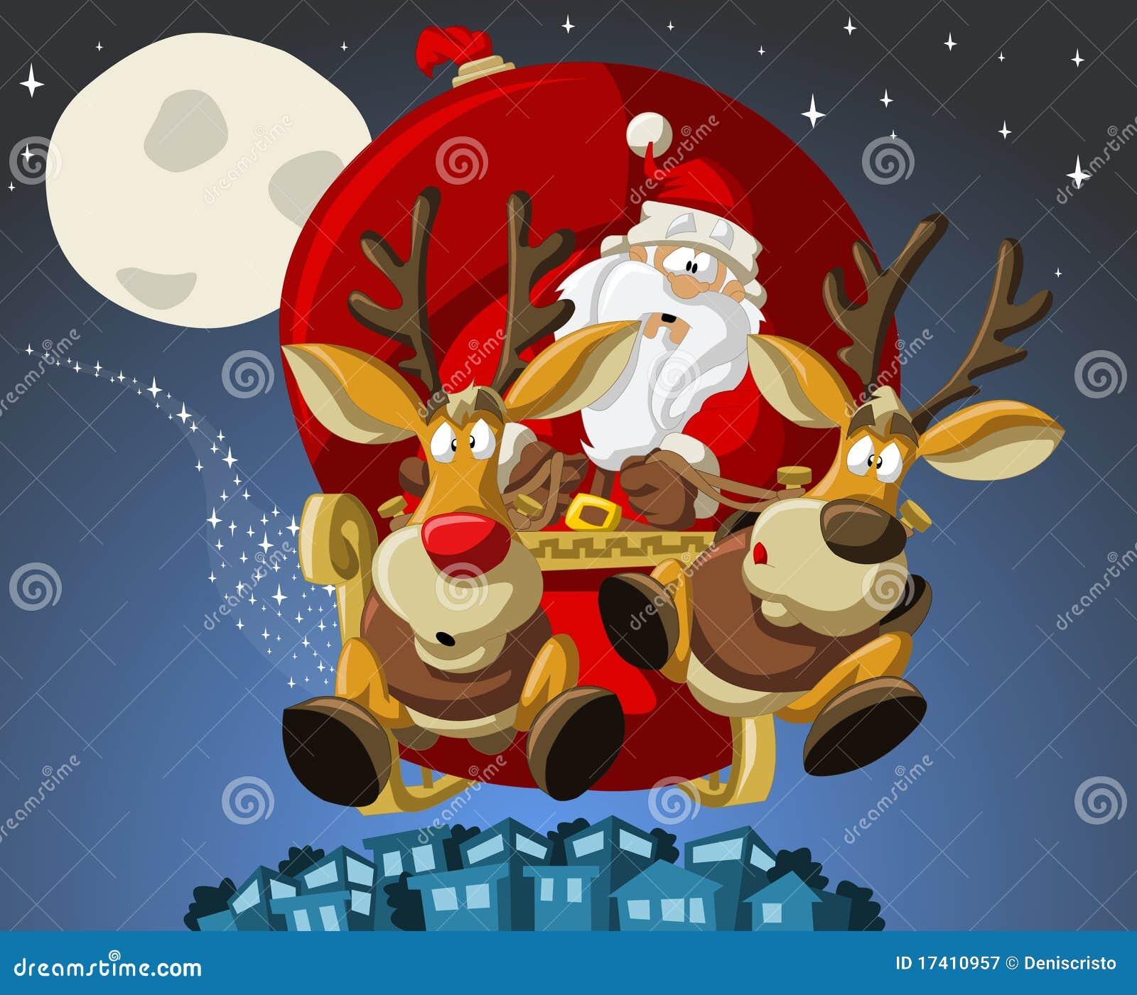 Il Babbo Natale su tempo di natale