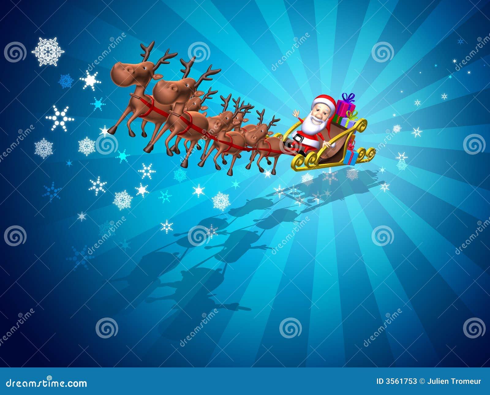 Il Babbo Natale su una slitta