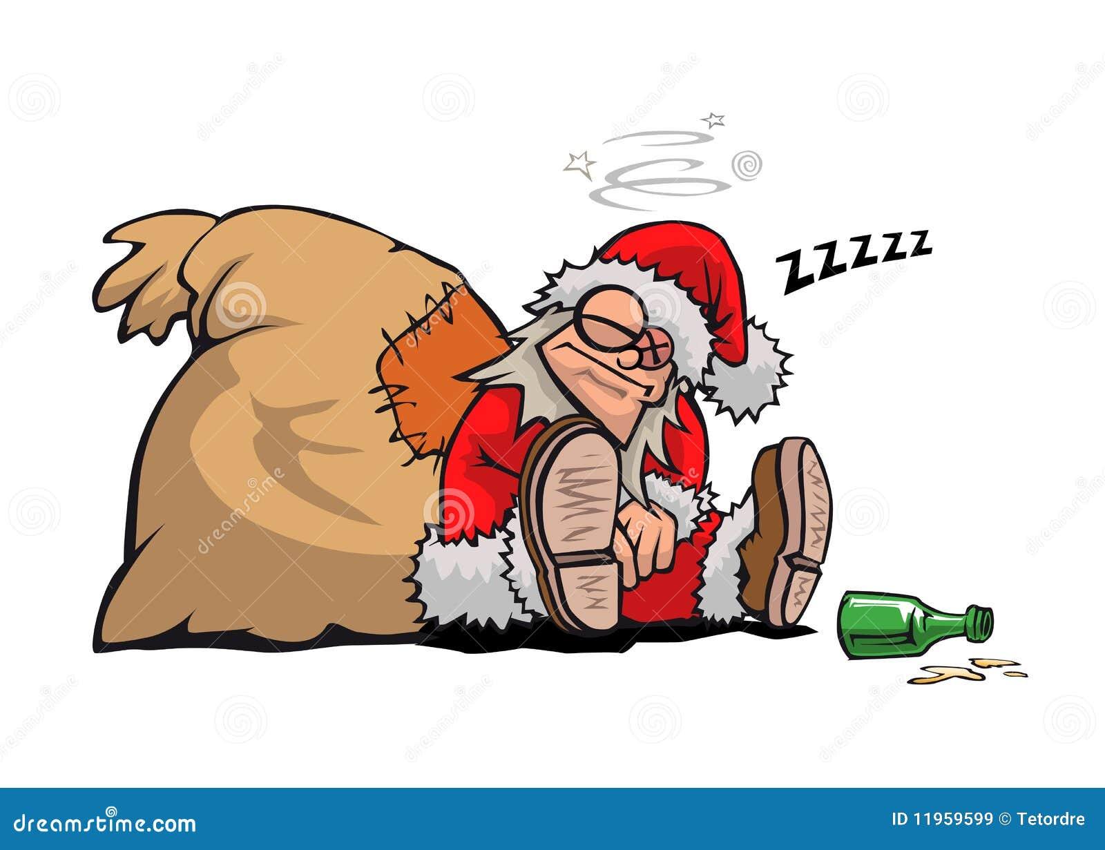 Babbo Natale Ubriaco.Il Babbo Natale Ubriaco Illustrazione Di Stock Illustrazione Di