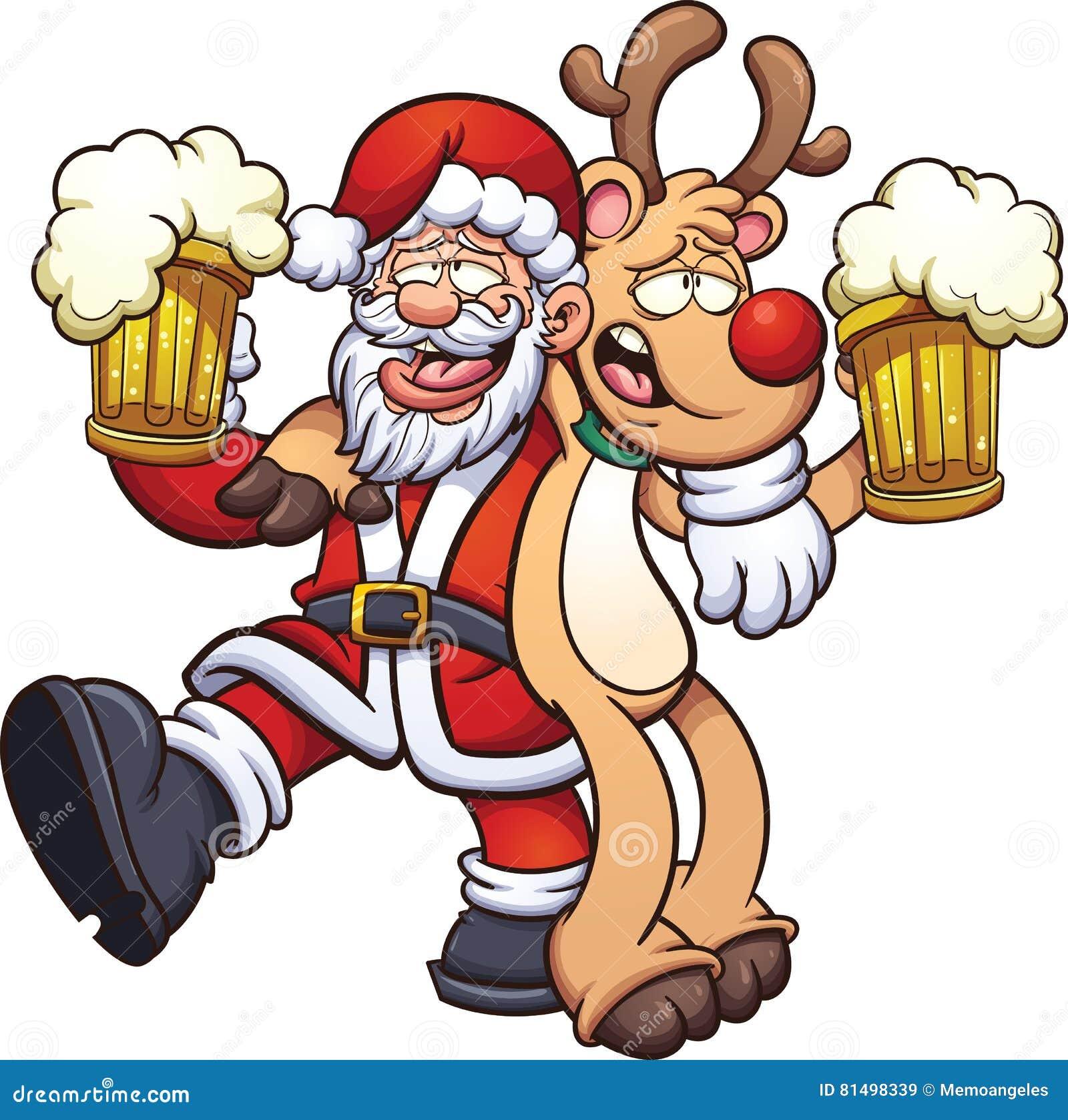Babbo Natale Ubriaco.Il Babbo Natale Ubriaco Illustrazione Vettoriale Illustrazione Di