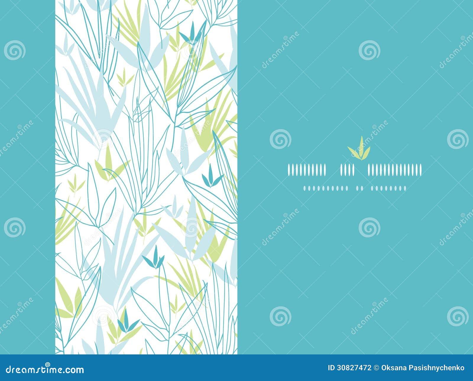 Il bambù blu si ramifica fondo verticale della decorazione