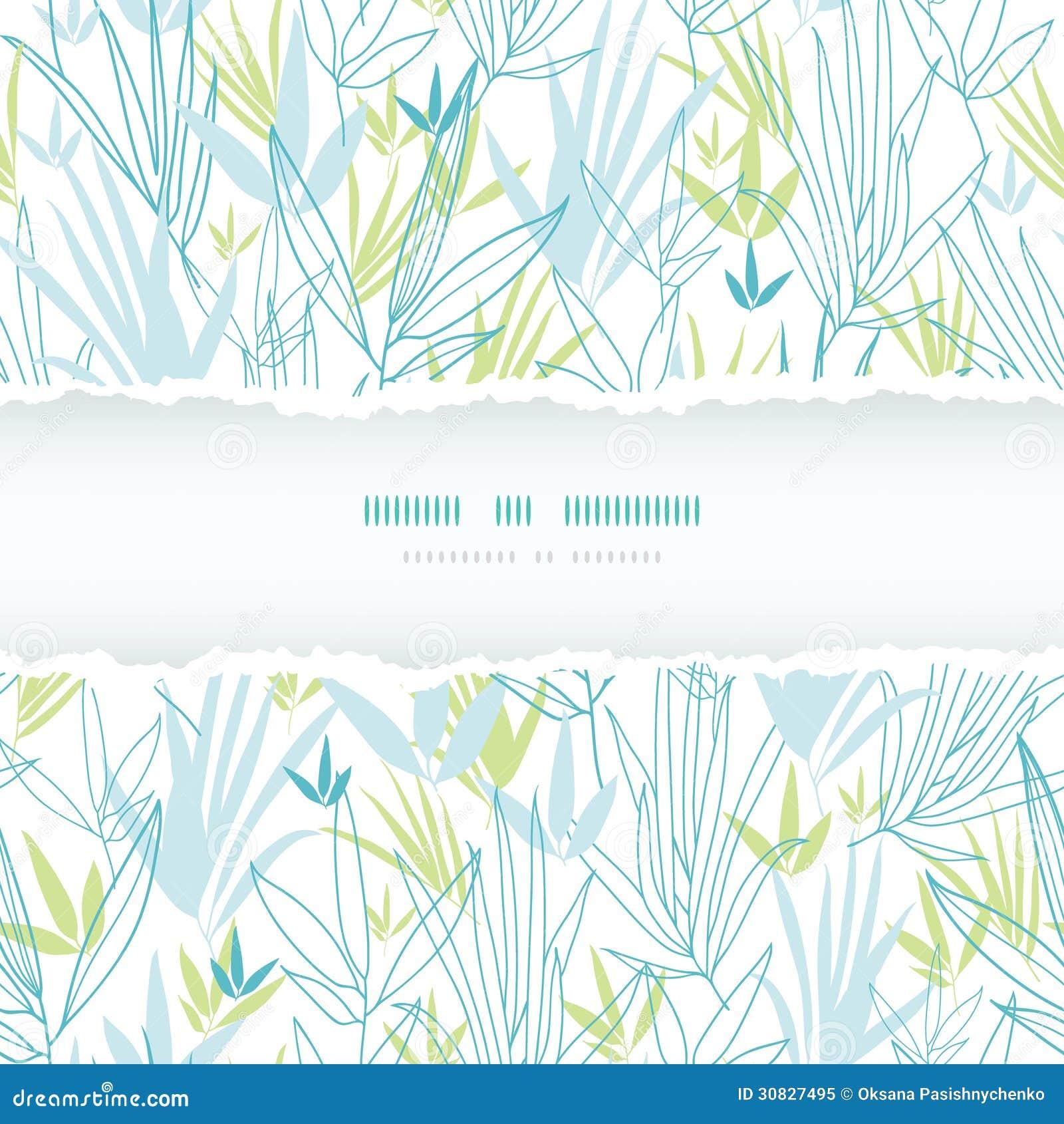 Il bambù blu si ramifica modello senza cuciture della struttura lacerata
