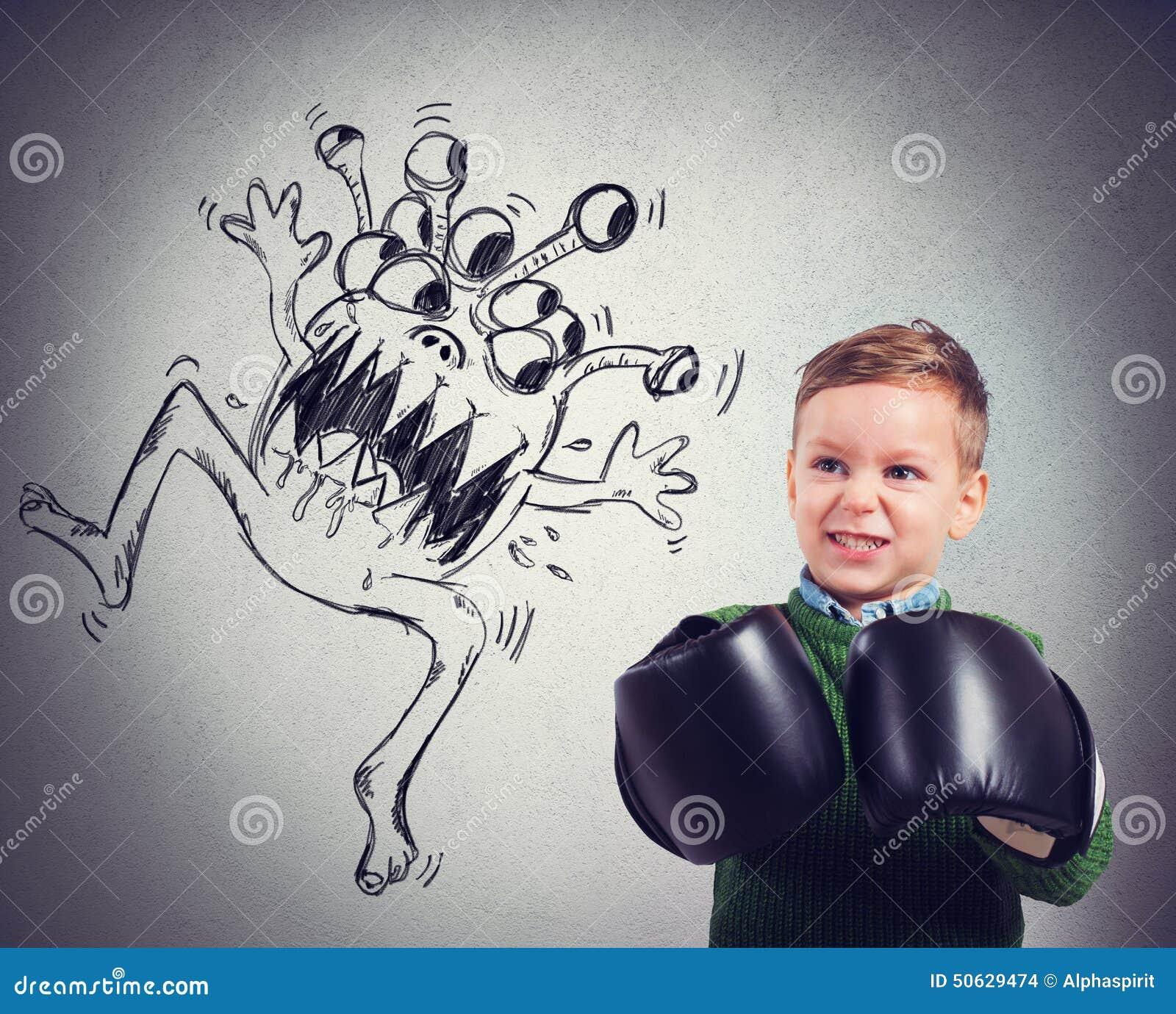Il bambino affronta un virus