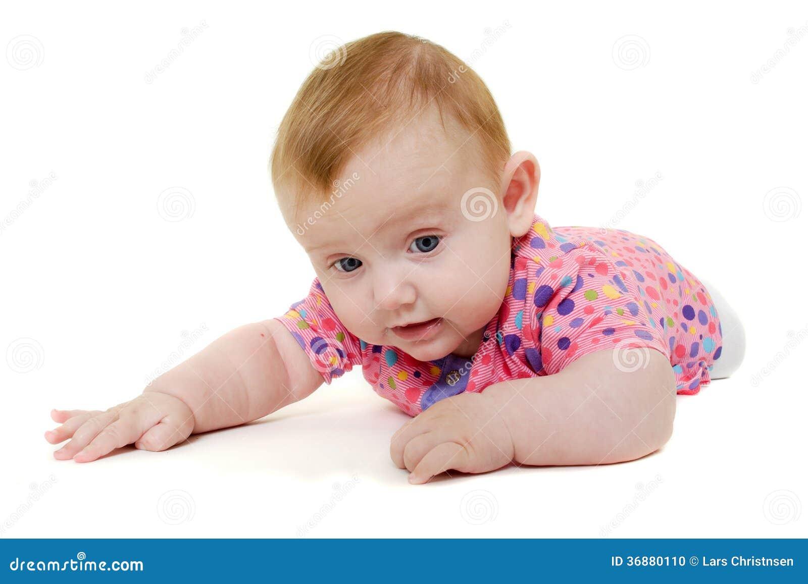 Download Il Bambino Sta Giocando Su Fondo Bianco. Fotografia Stock - Immagine di resto, ragazza: 36880110