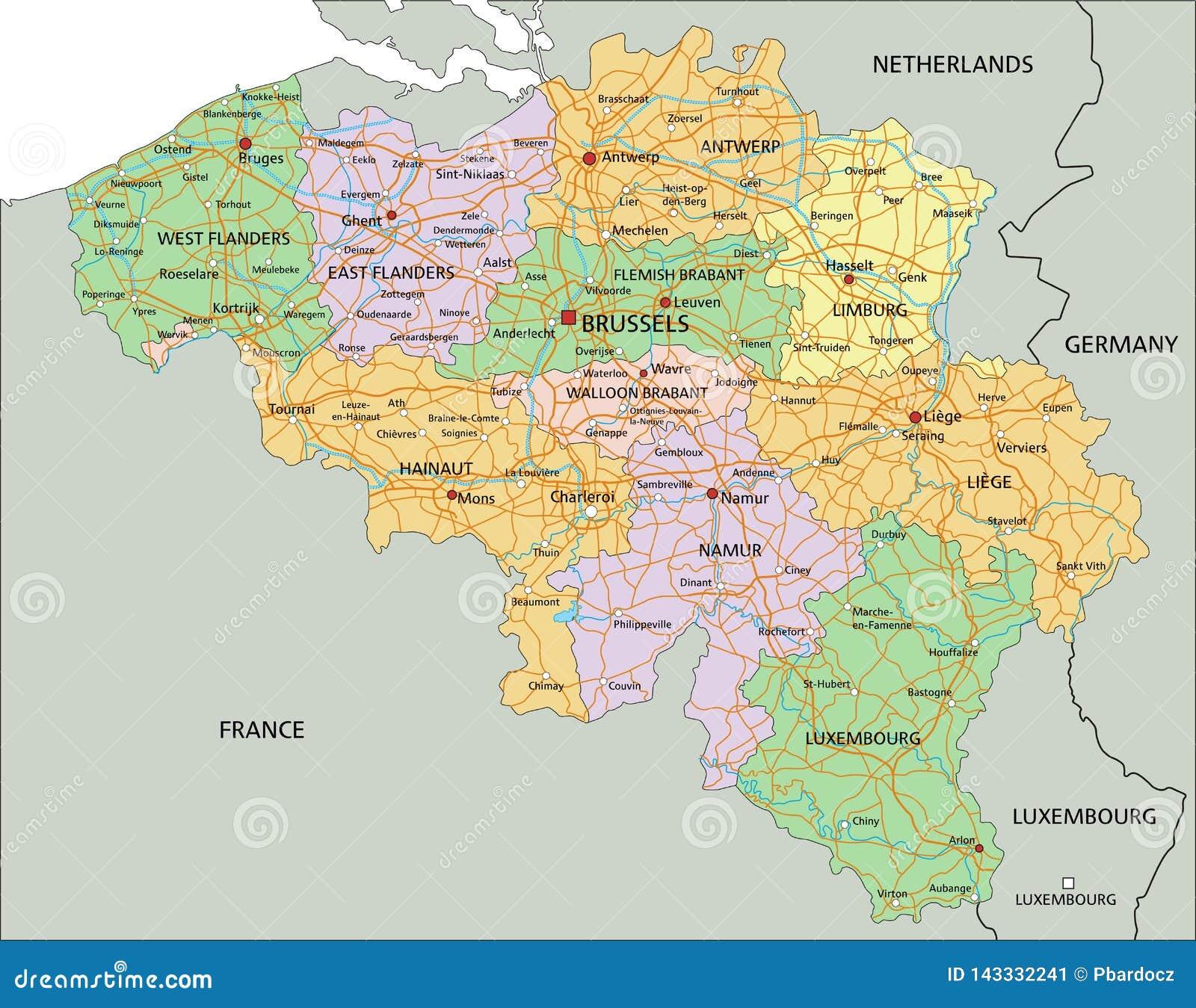Cartina Del Belgio Da Stampare.Il Belgio Mappa Politica Editabile Altamente Dettagliata Con L Etichettatura Illustrazione Vettoriale Illustrazione Di Tracciato Naturalizzato 143332241