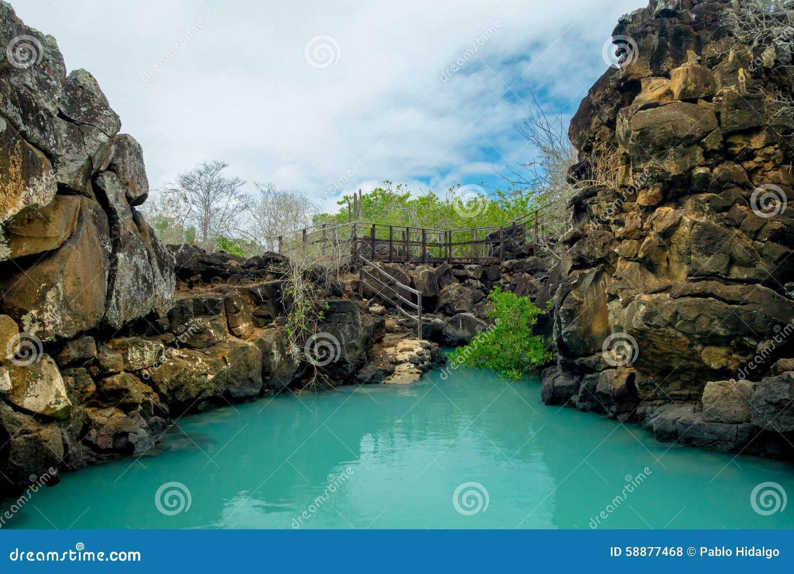 Il bello punto di riferimento Las Grietas è un geologico