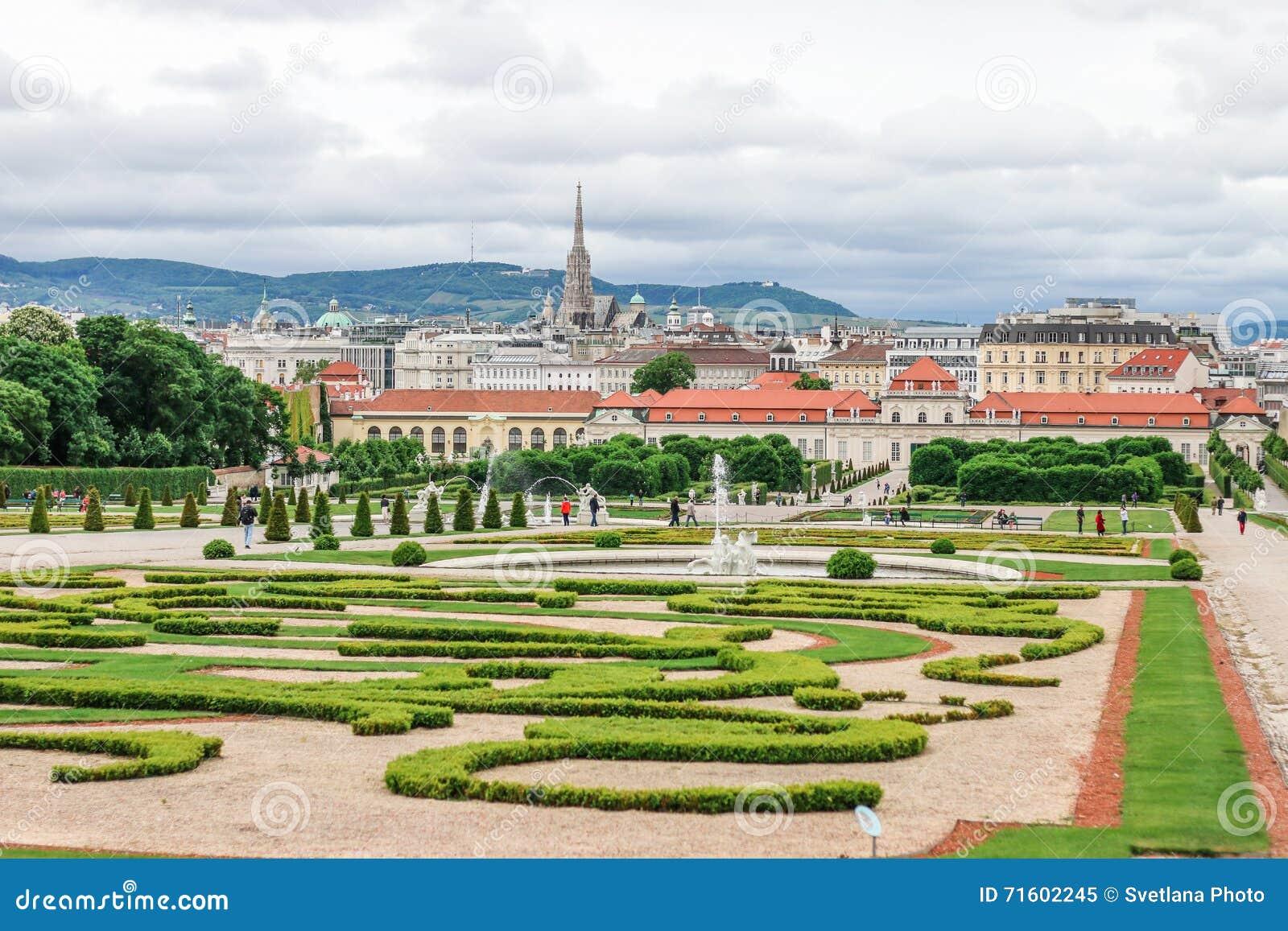 Il belvedere ed i giardini più bassi a Vienna, Austria
