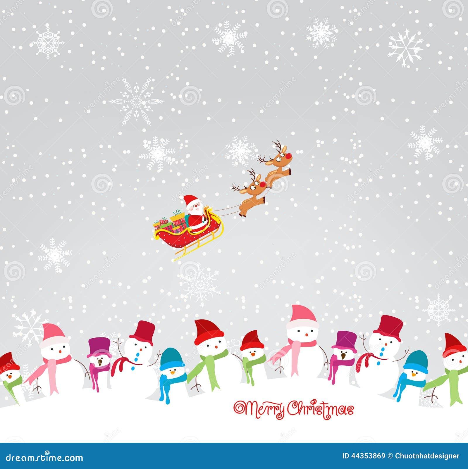 Il Buon Natale carda con gli snowmans