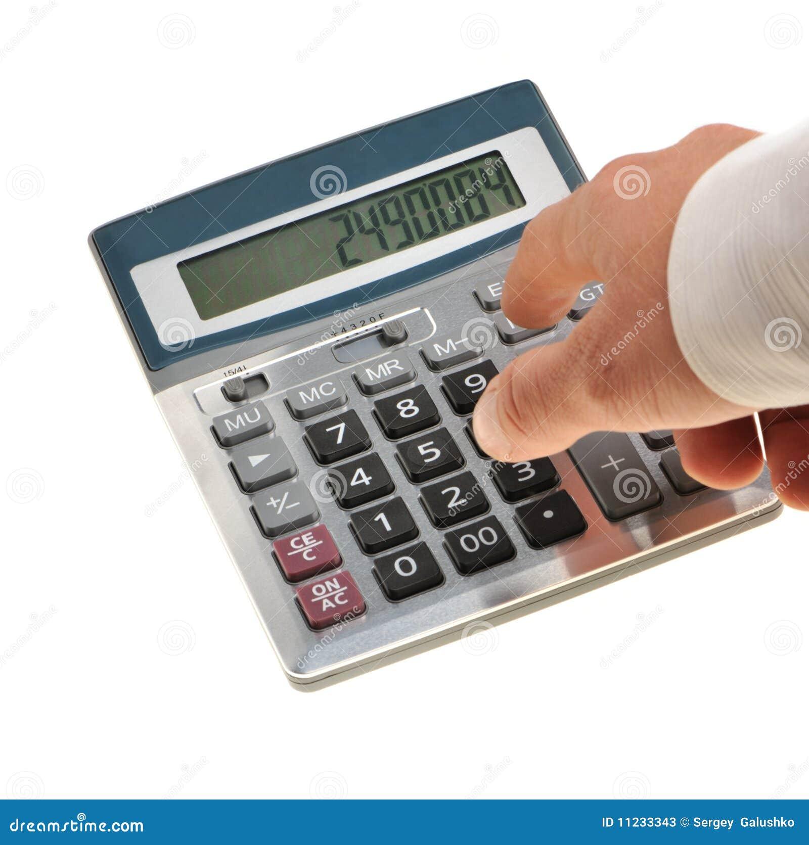 Il calcolatore e una mano dell 39 uomo fotografie stock for Calcolatore del prezzo della costruzione domestica