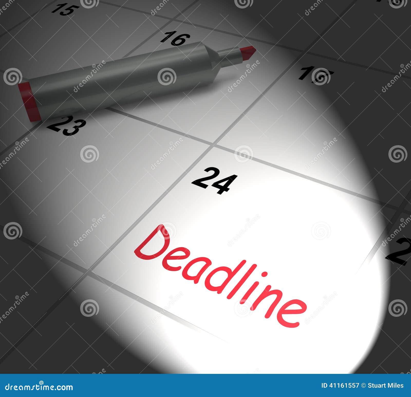 Visualizza Calendario.Il Calendario Di Termine Visualizza La Scadenza Ed Il Taglio