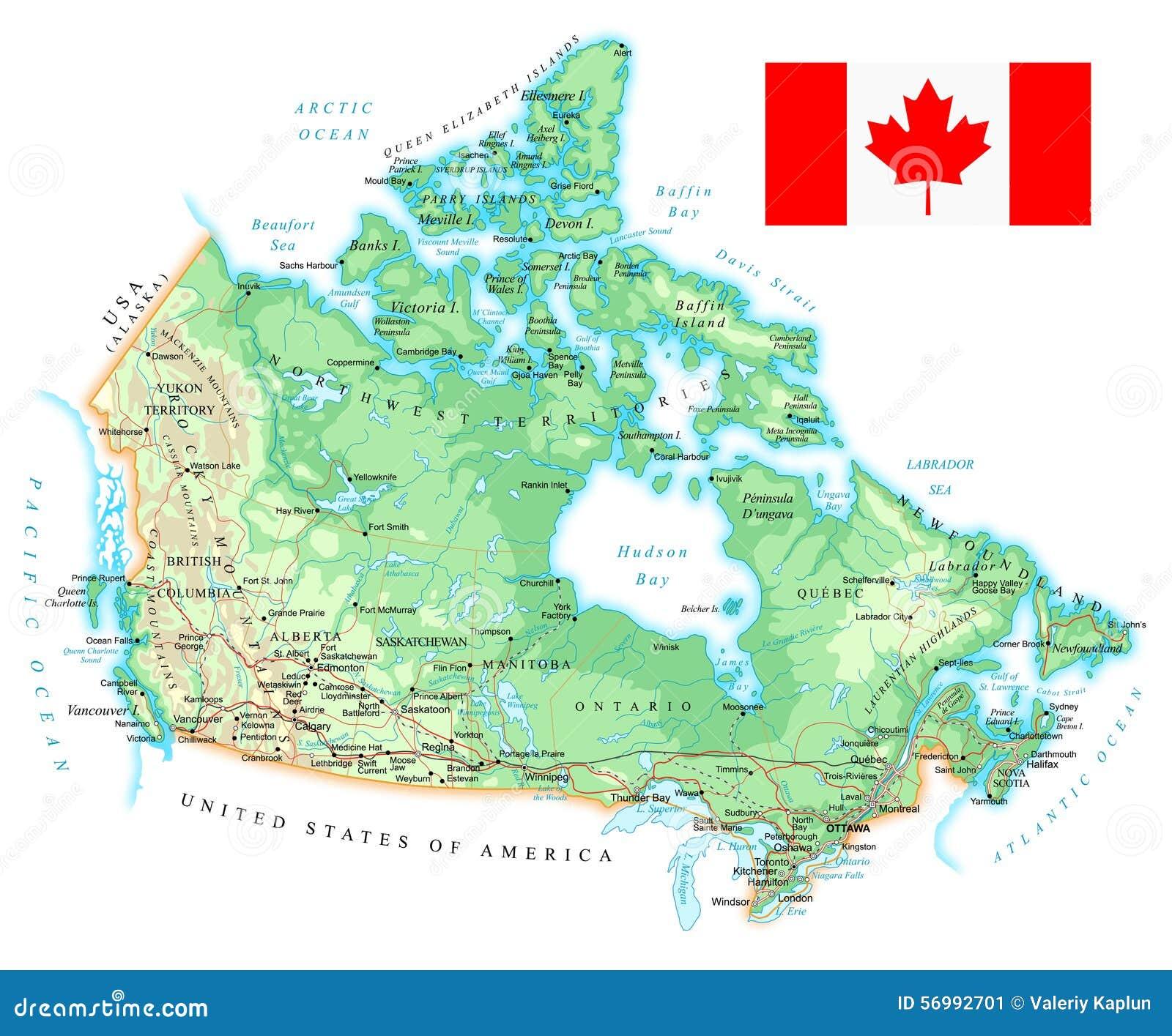 Canada Cartina Fisica.Il Canada Mappa Topografica Dettagliata Illustrazione Illustrazione Vettoriale Illustrazione Di Canadese Yellow 56992701