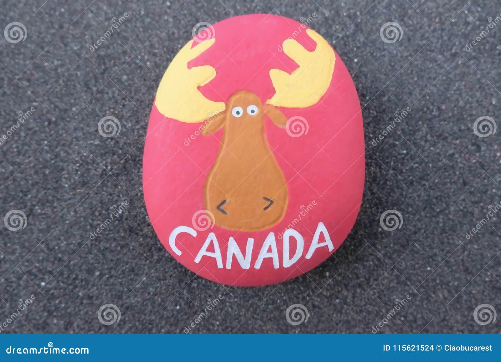 Il Canada, ricordo dall'America settentrionale con una progettazione di pietra Royalty Illustrazione gratis