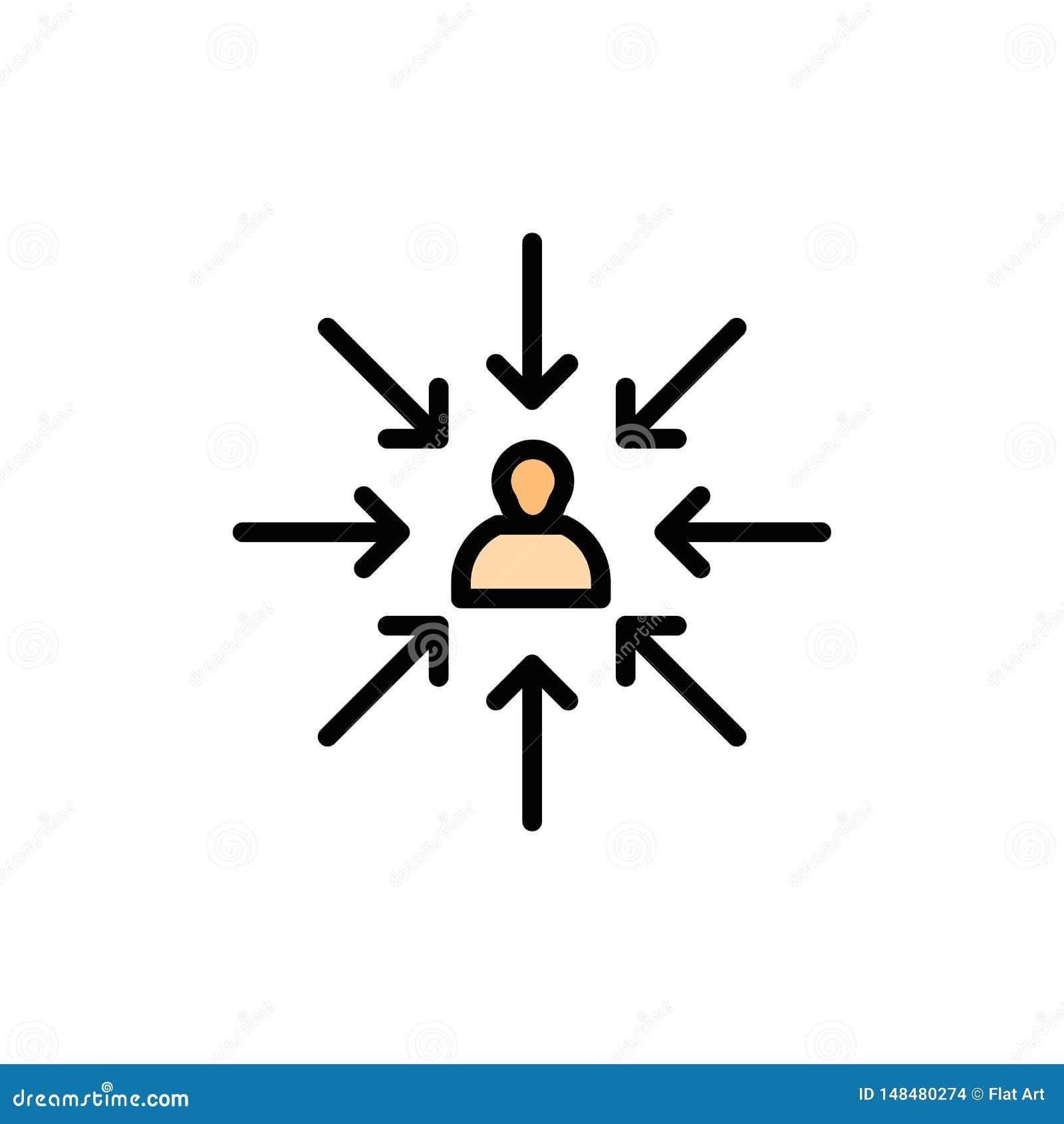 Il candidato, scelta, sceglie, mette a fuoco, icona piana di colore di selezione Modello dell insegna dell icona di vettore