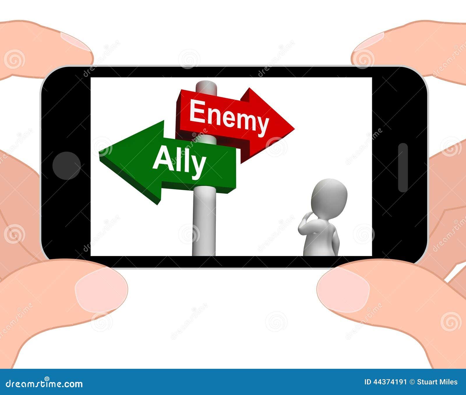 Il cartello nemico alleato visualizza l amico o il nemico