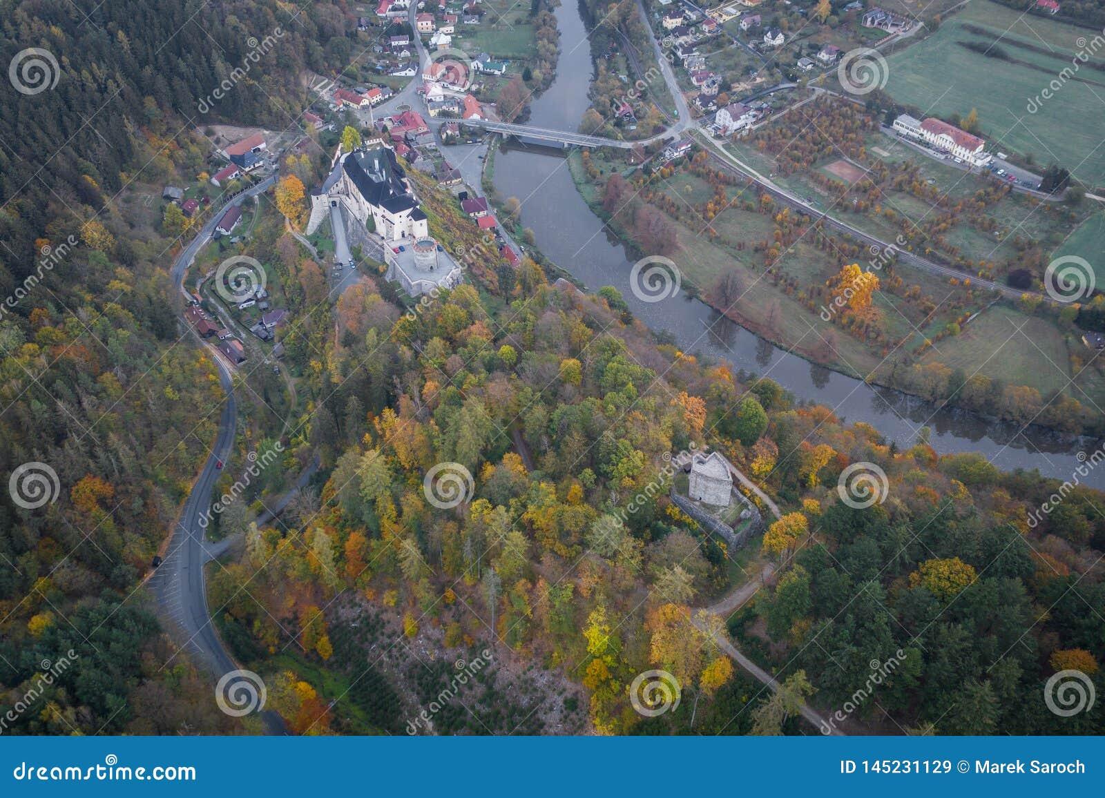 Il castello del ternberk del ½Å di ÄŒeskà è un castello della Boemia della metà del XIII secolo