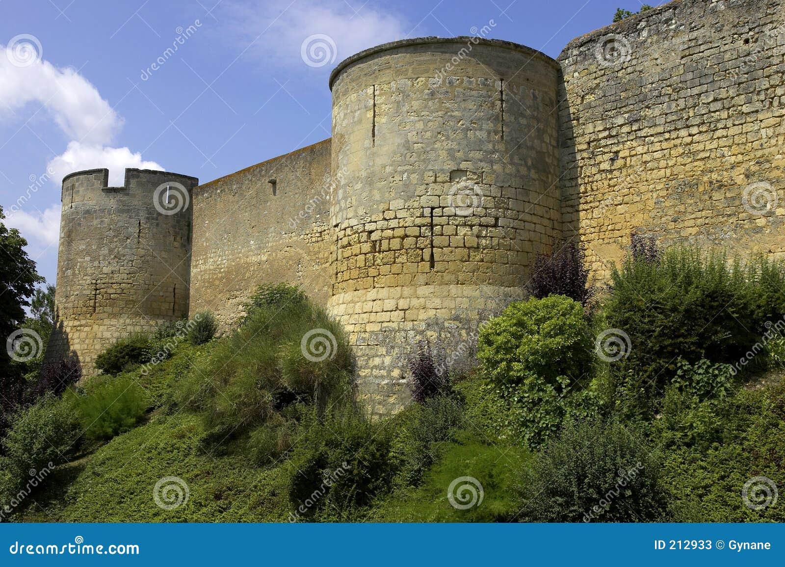 Il castello mura Loire Valley montreuil-bellay Francia