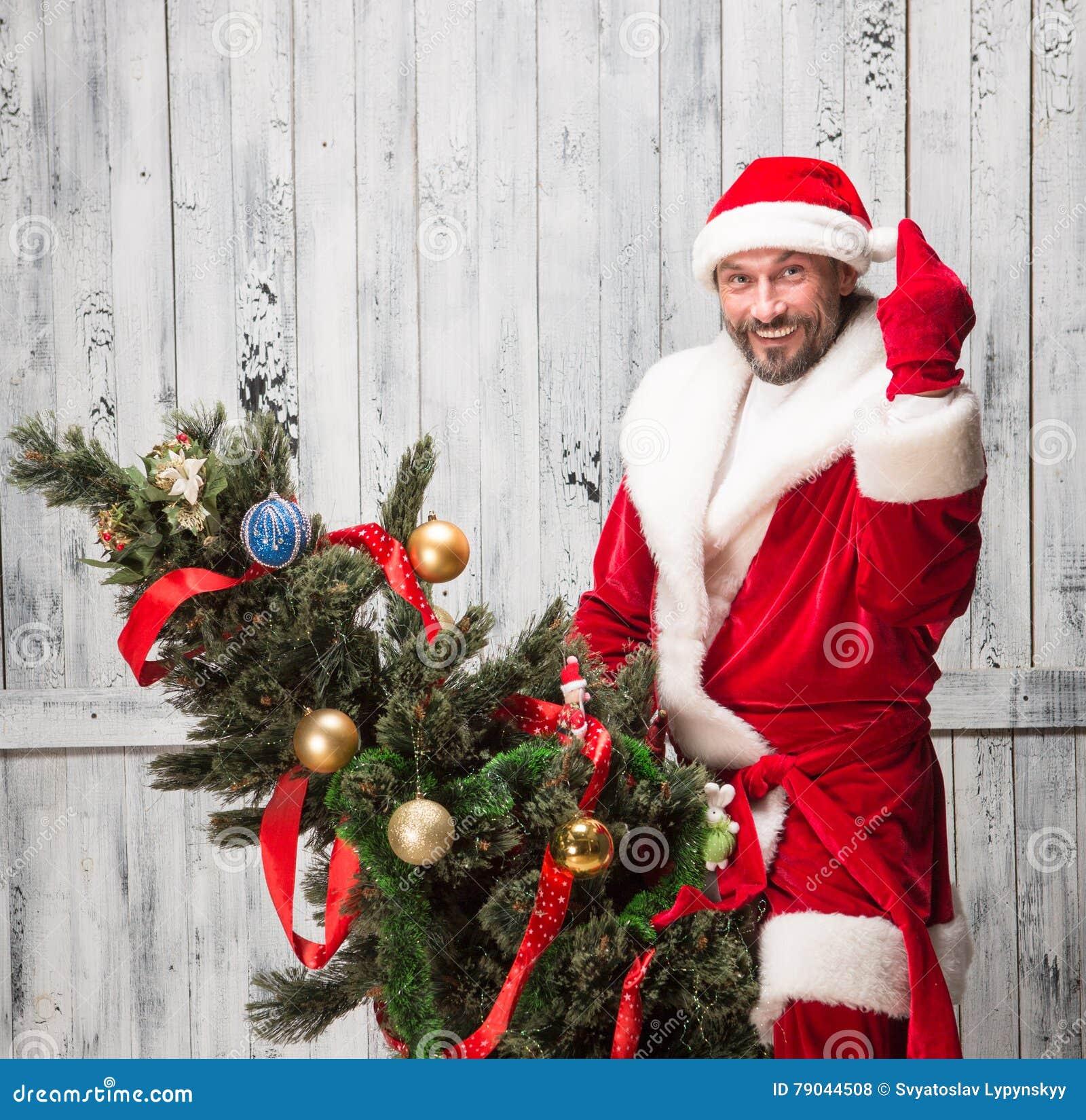 Babbo Natale Cattivo.Il Cattivo Babbo Natale Fotografia Stock Immagine Di Costume 79044508