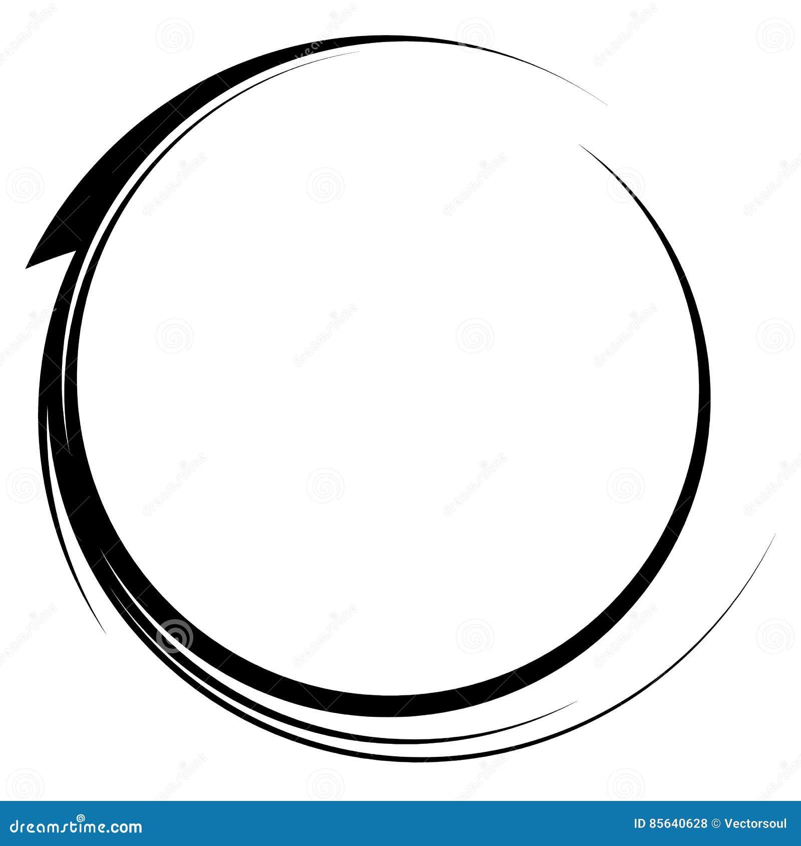 Il cerchio con dinamico mormora la linea struttura Eleme circolare monocromatico