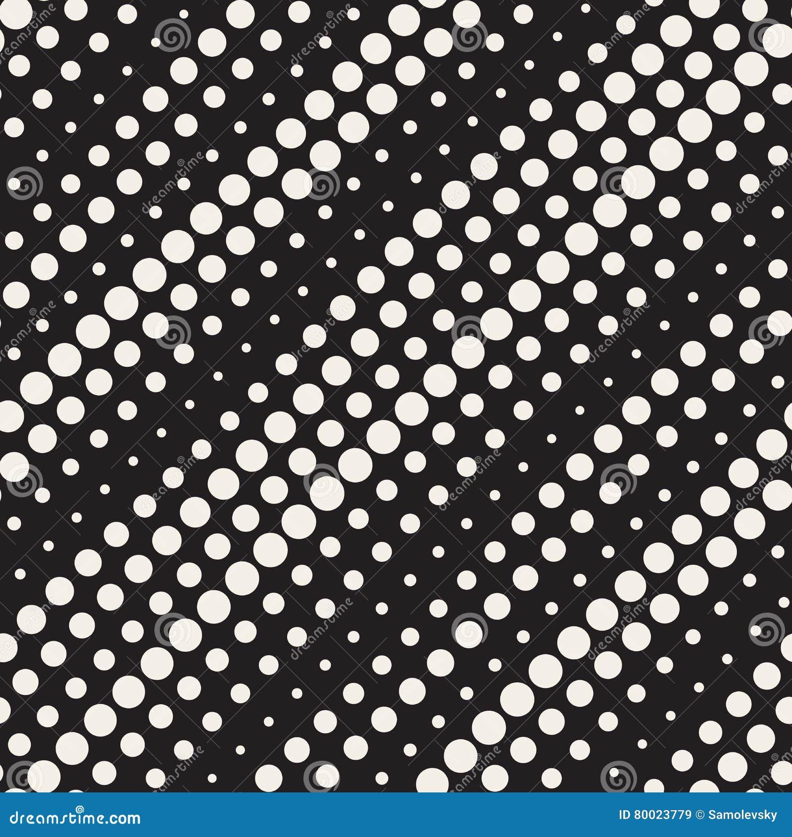 Il cerchio di semitono diagonale in bianco e nero senza cuciture di vettore allinea il modello