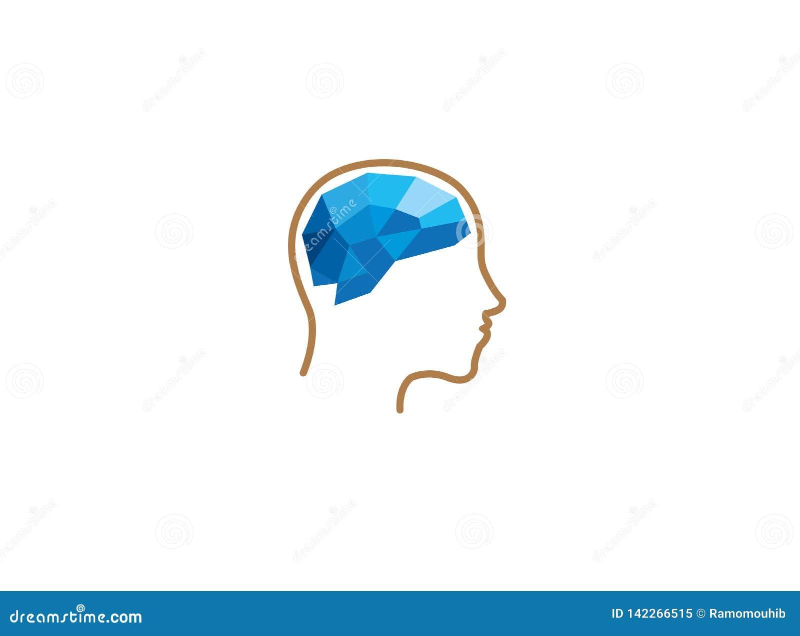 Il cervello dentro si dirige verso la progettazione di logo