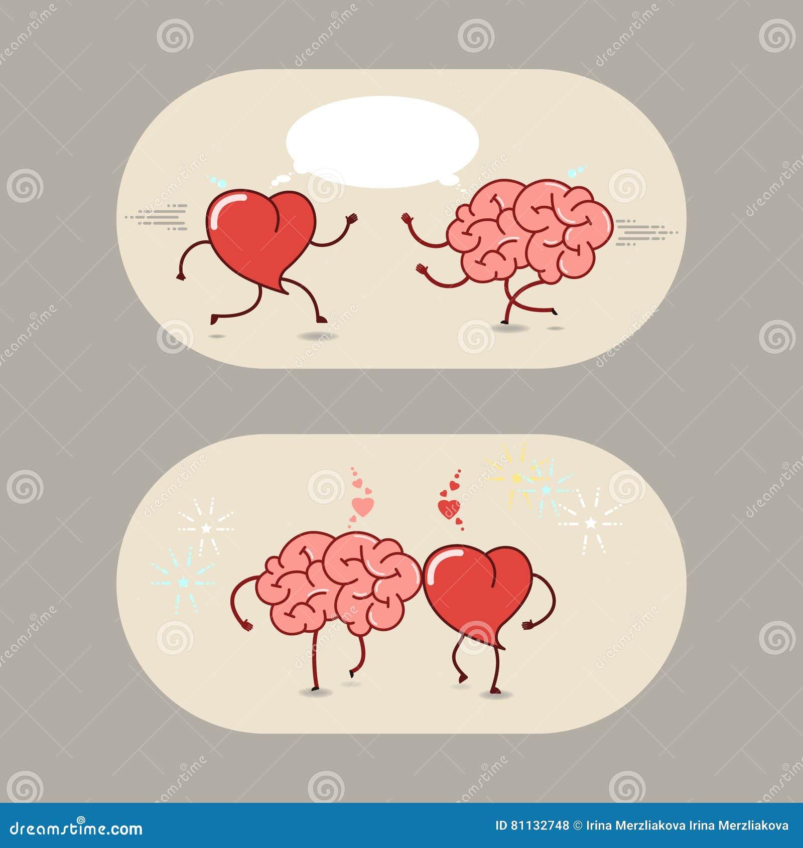 Il Cervello Ed Il Cuore Di Amore E Di Amicizia Un Insieme Di
