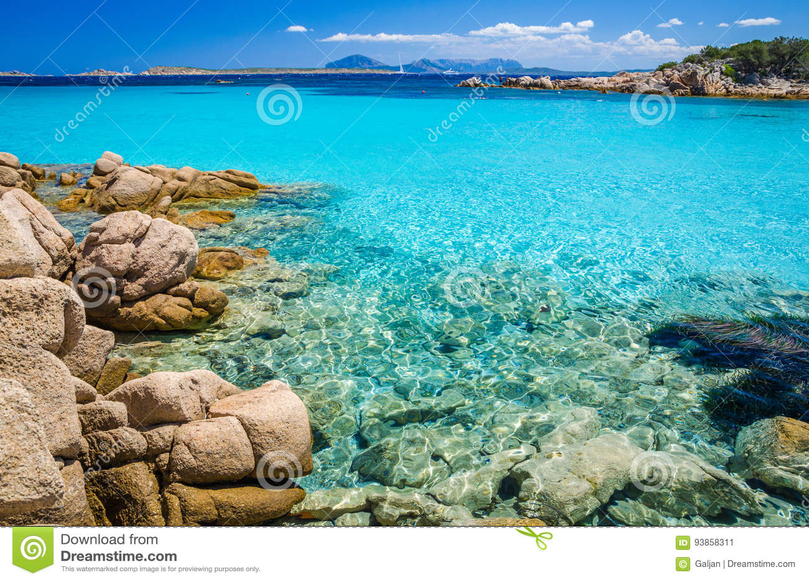 Colorati D Azzurro Chiaro il chiaro azzurro stupefacente ha colorato l'acqua di mare