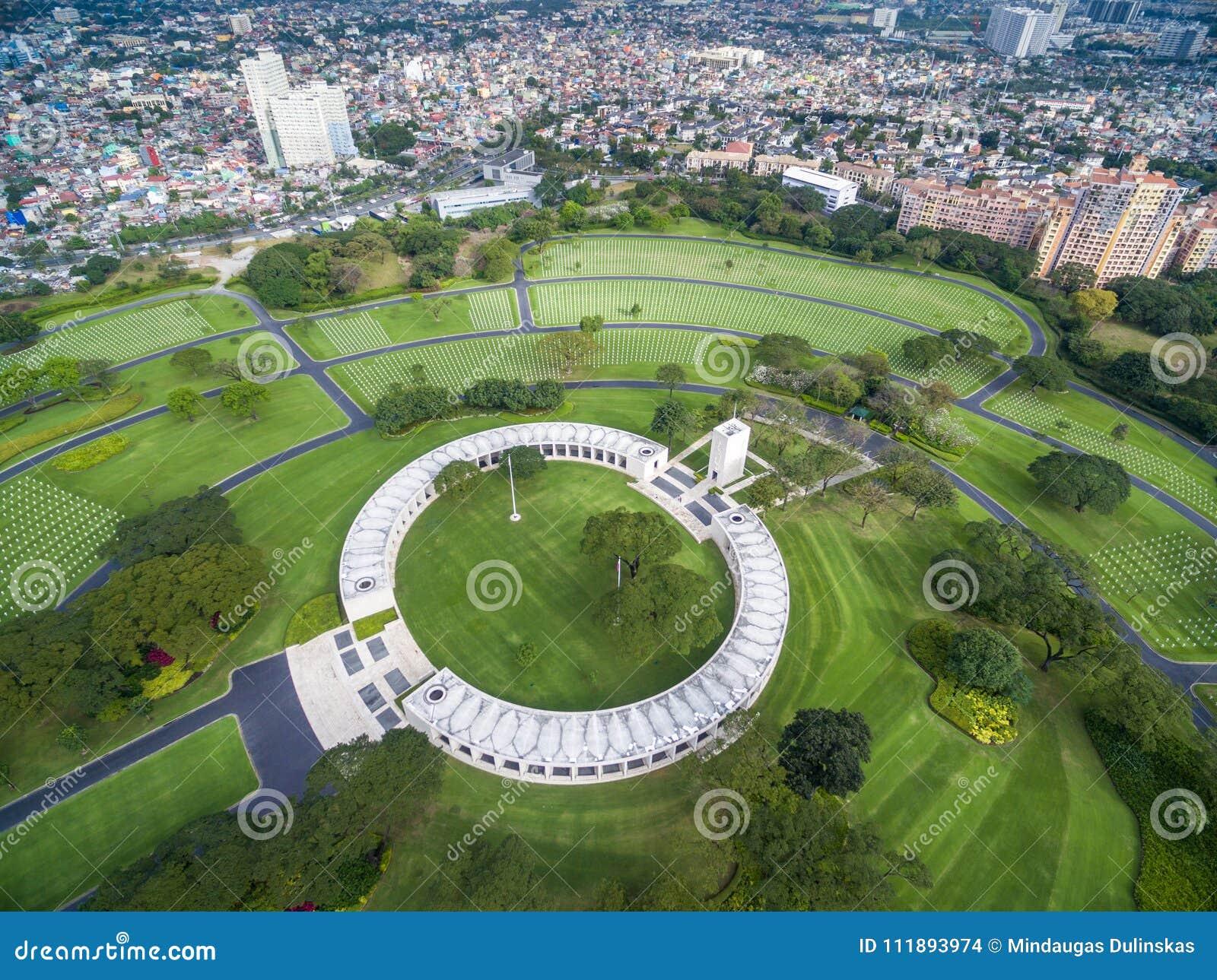 Il cimitero ed il memoriale americani di Manila Situato in Fort Bonifacio, città di Taguig, metropolitana Manila Ha il più grande