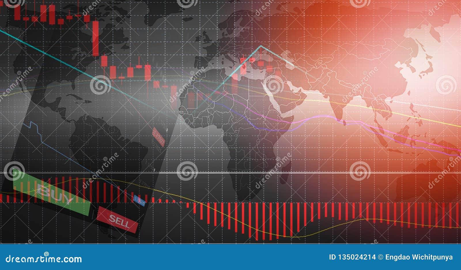 Il commercio dei forex/grafici dei forex rappresenta graficamente i dati del bordo sulle opzioni dell AFFARE e di VENDITA del fon