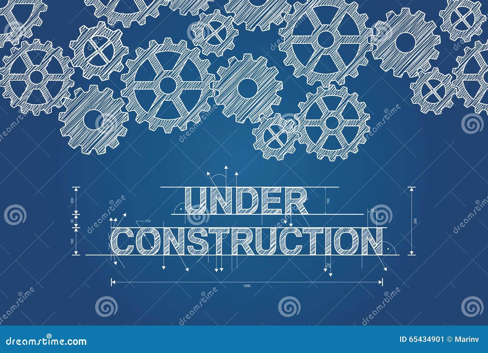 Il concetto in costruzione del modello ha schizzato il disegno con gli ingranaggi