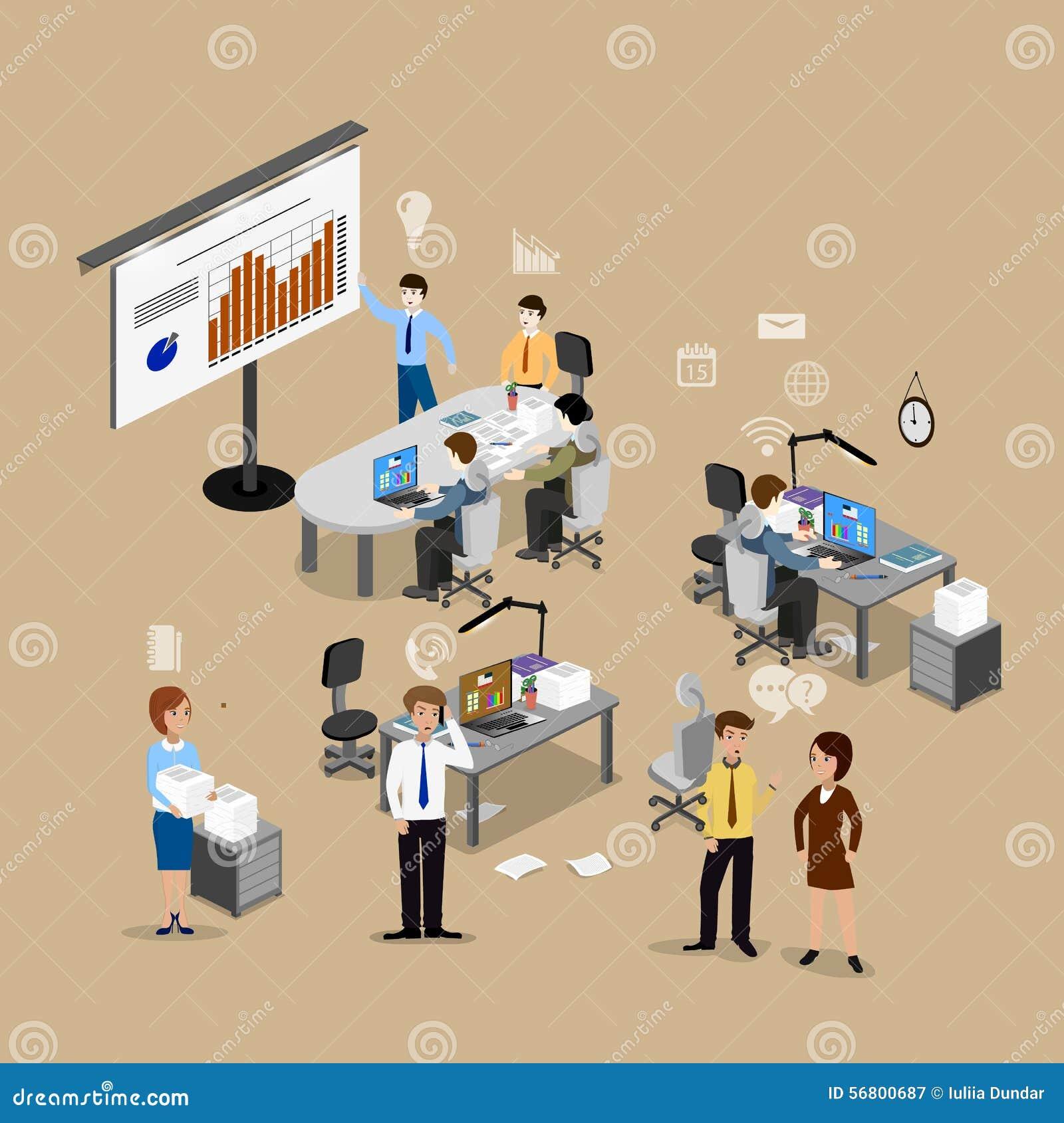 Il Concetto Del Lavoro D'ufficio Illustrazione di Stock ...