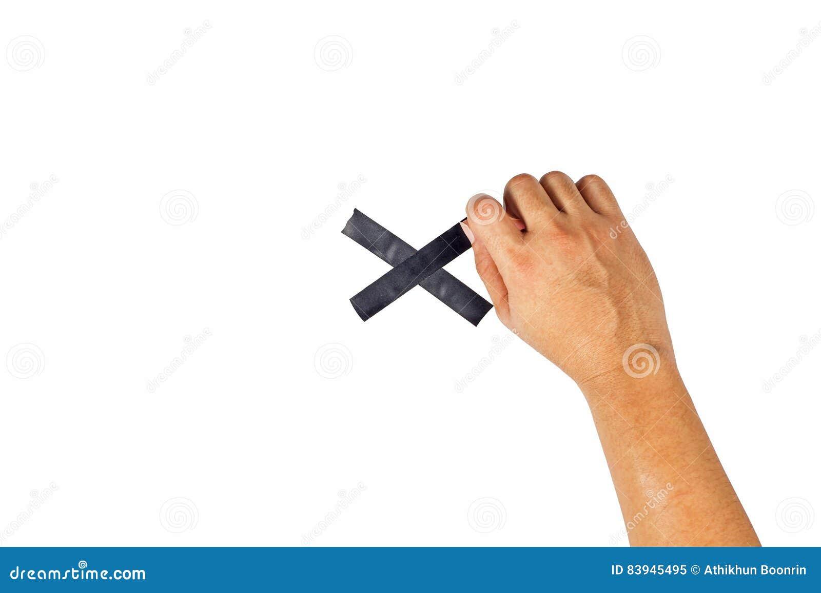 Il concetto delle mani si accinge a legato ad un incrocio nero