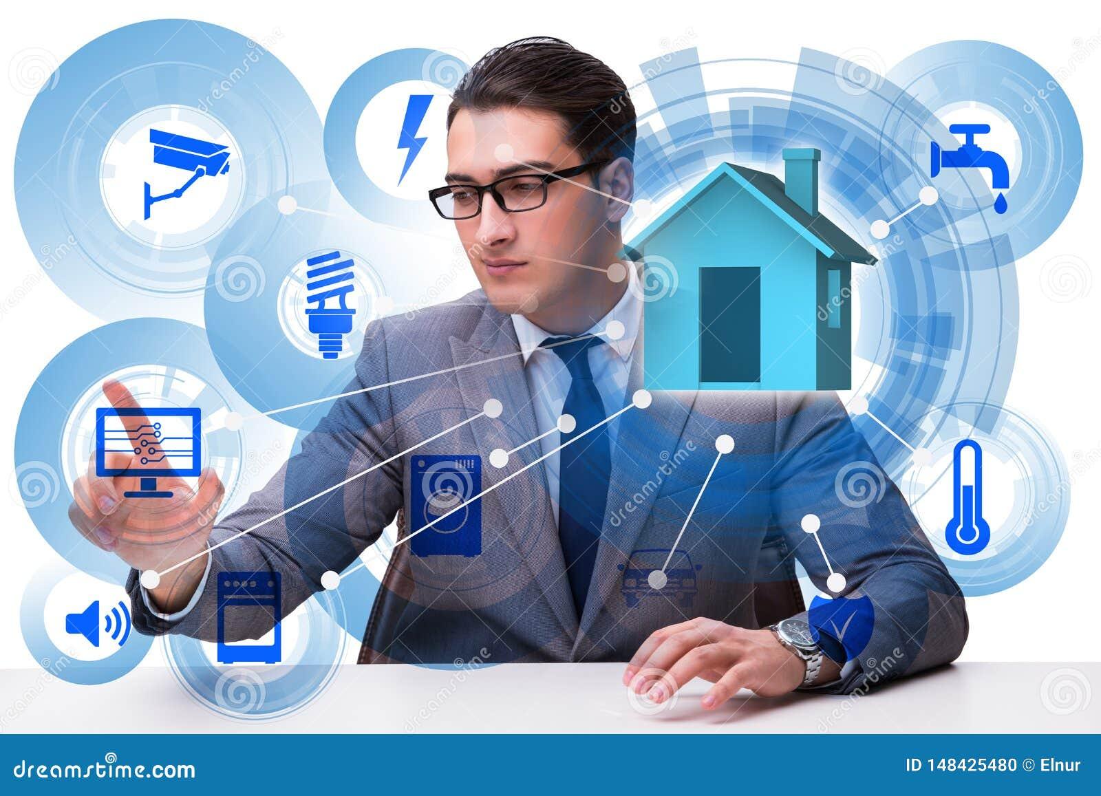Il concetto domestico astuto con i dispositivi e gli apparecchi