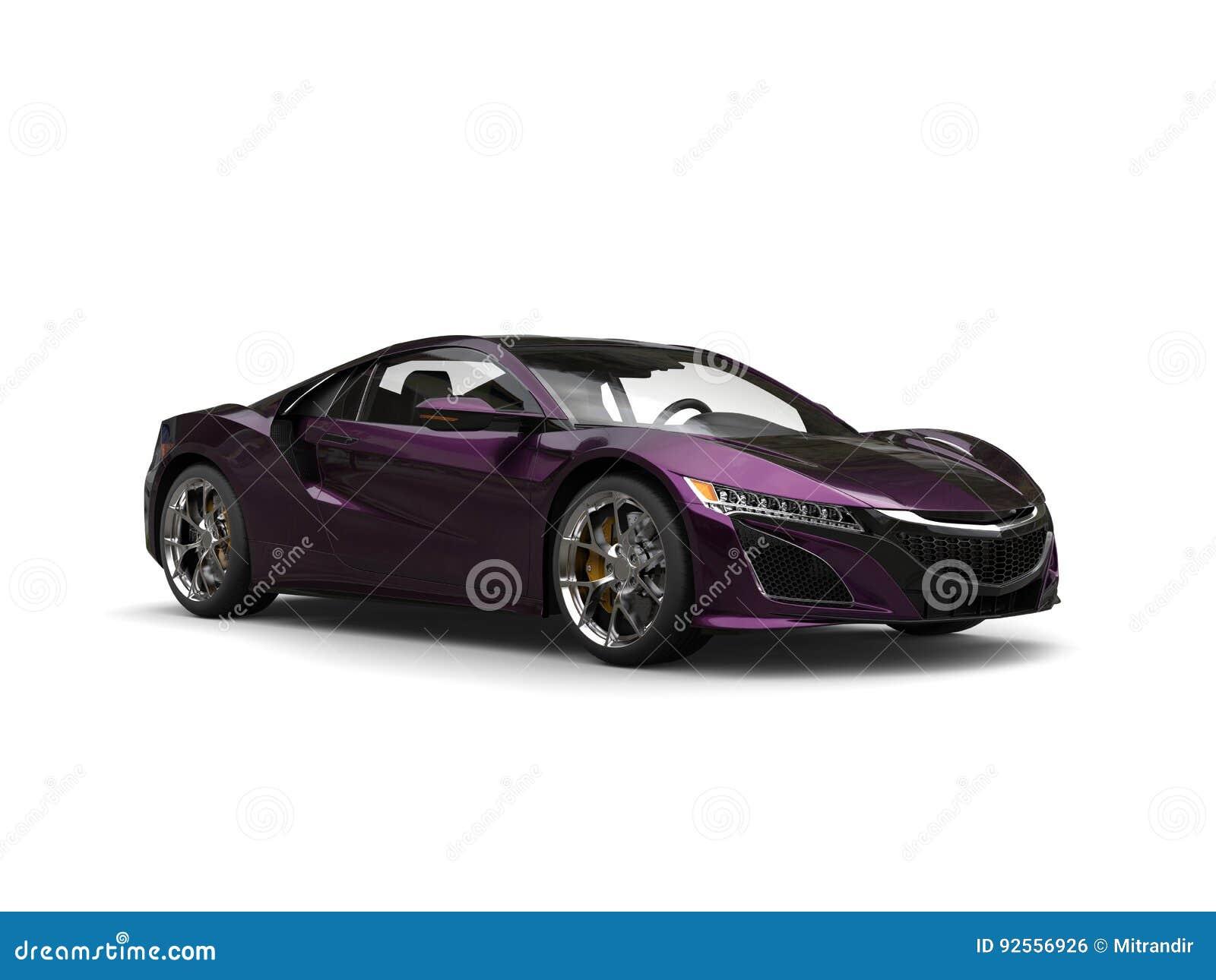 Il concetto eccellente mette in mostra la pittura metallica porpora automobilistica del fiocco