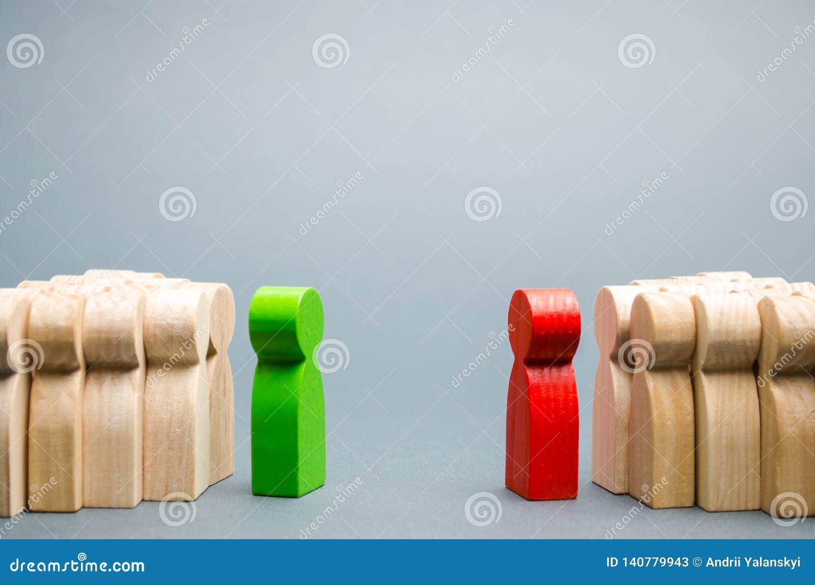 Il conflitto fra i capi dei due gruppi Concorrenza di affari Ricerca dei compromessi La gente nella discussione