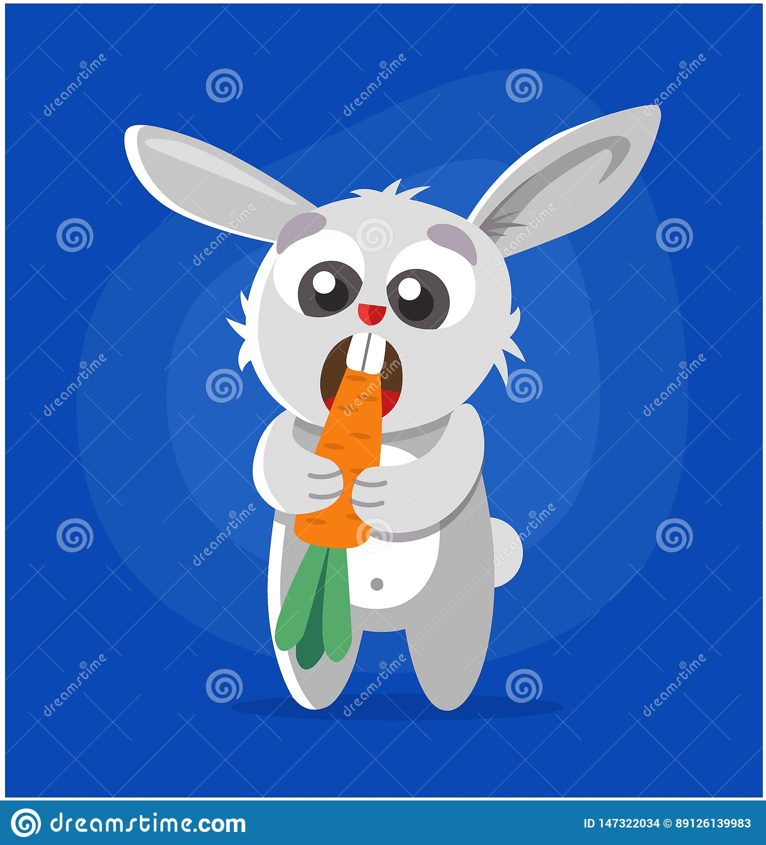Il coniglio mangia la carota