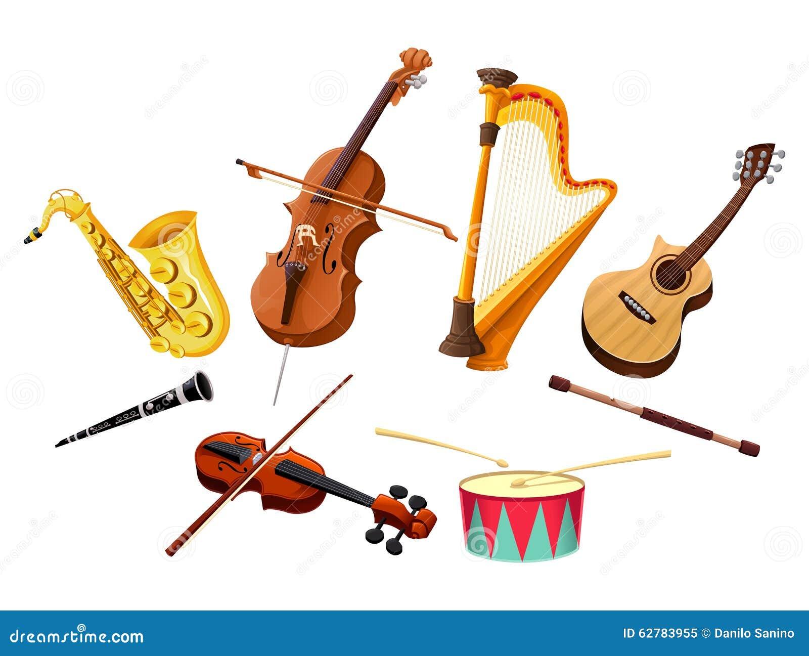 Il corno di musica ha impostato 3