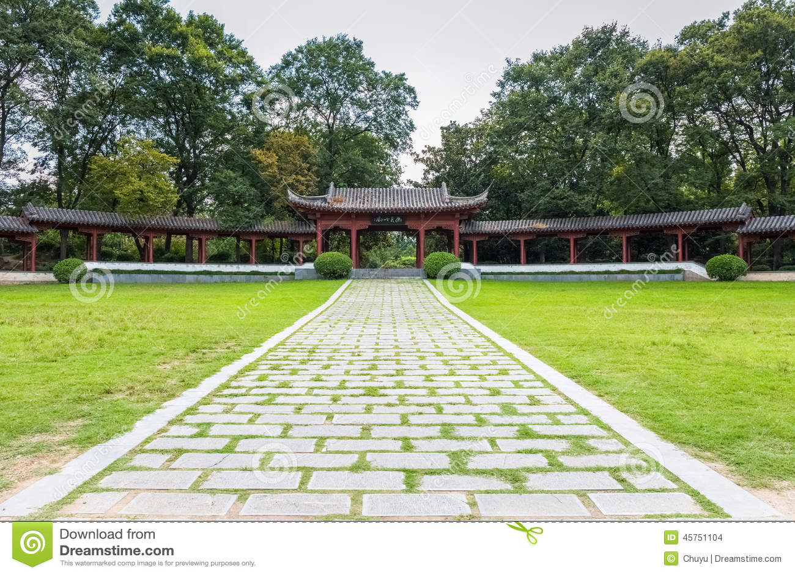 Il corridoio lungo del giardino