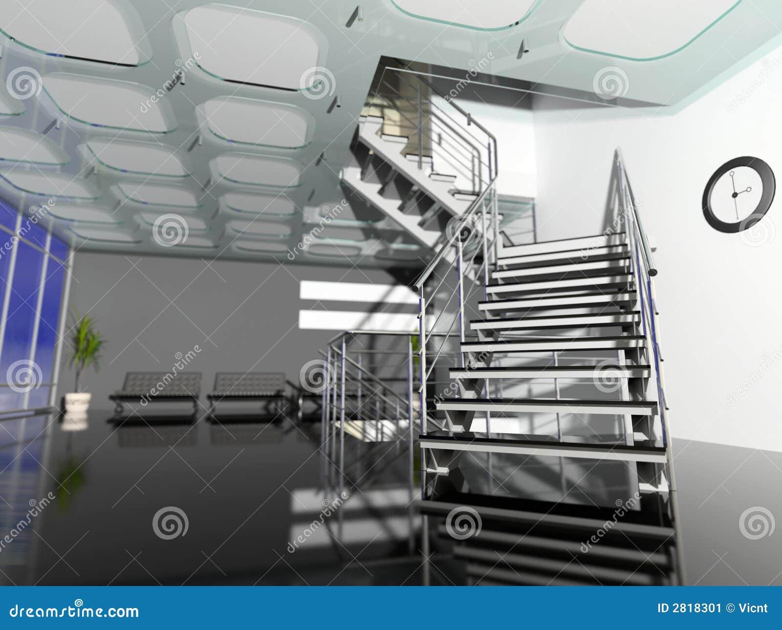Il Corridoio Moderno Dell 39 Ufficio Illustrazione Di Stock
