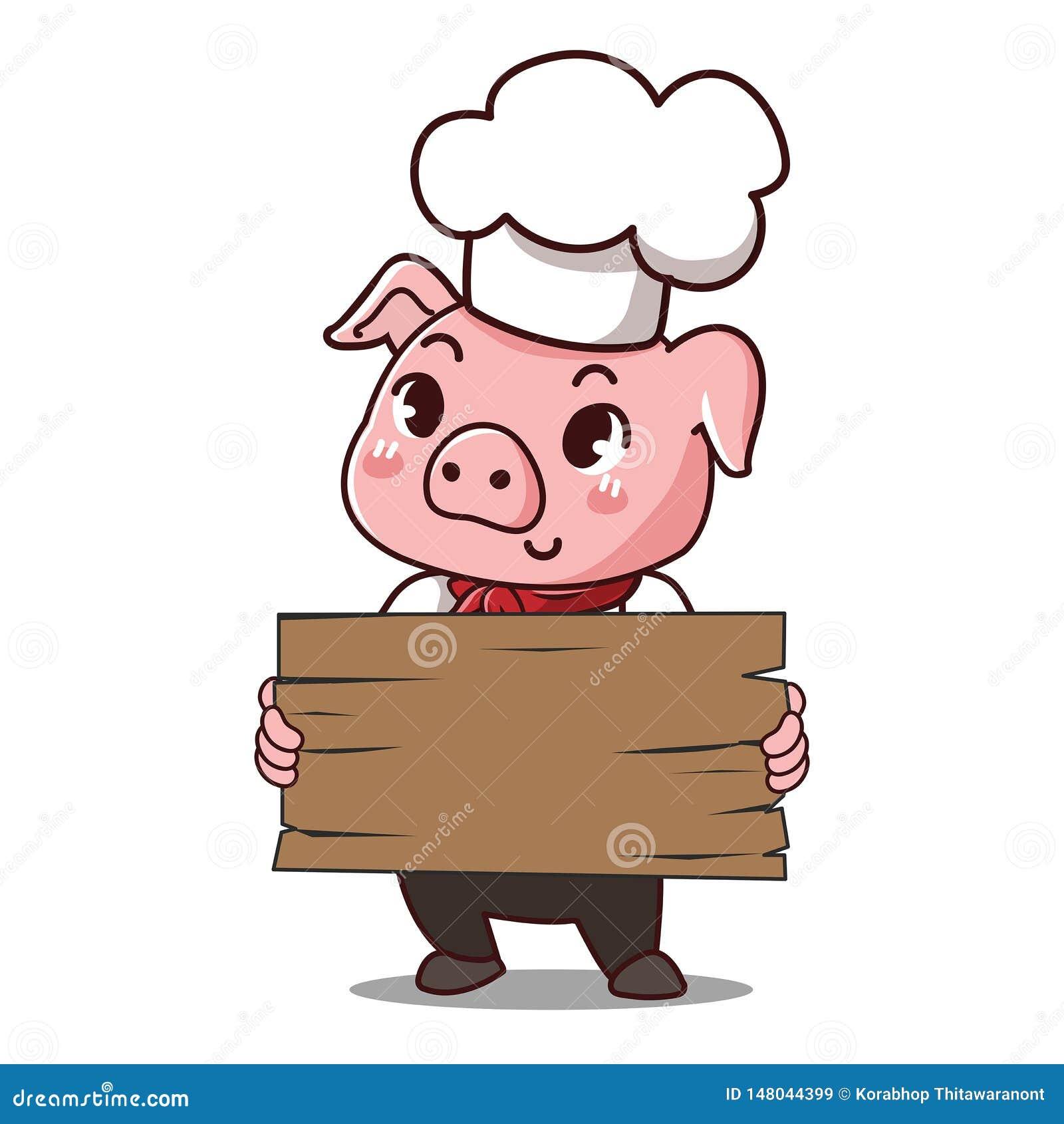 Il cuoco unico del maiale tiene un segno