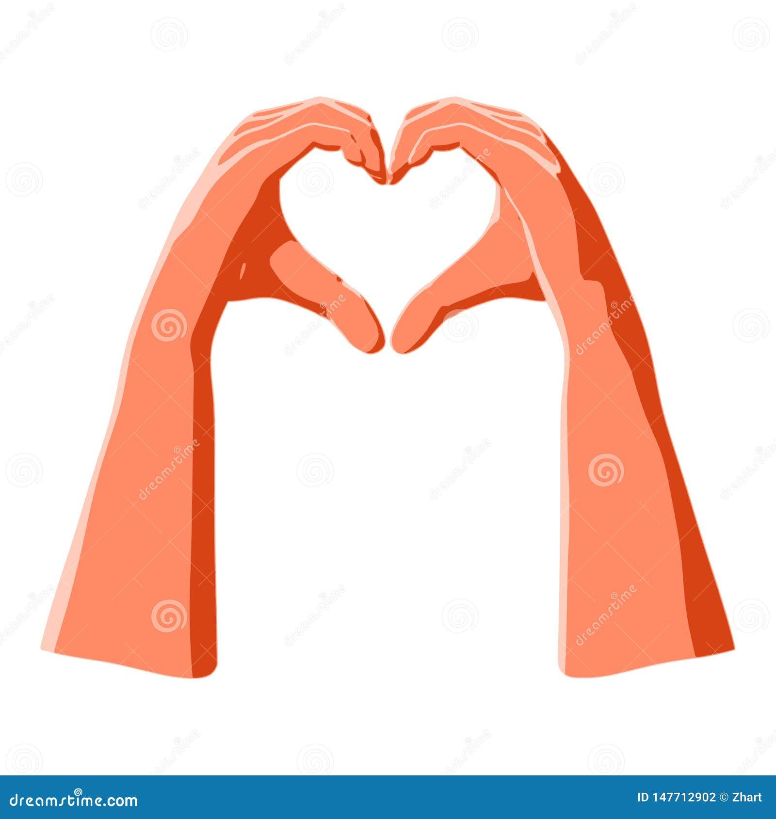 Il cuore hanno modellato le mani come gesto di amore e romanzesco