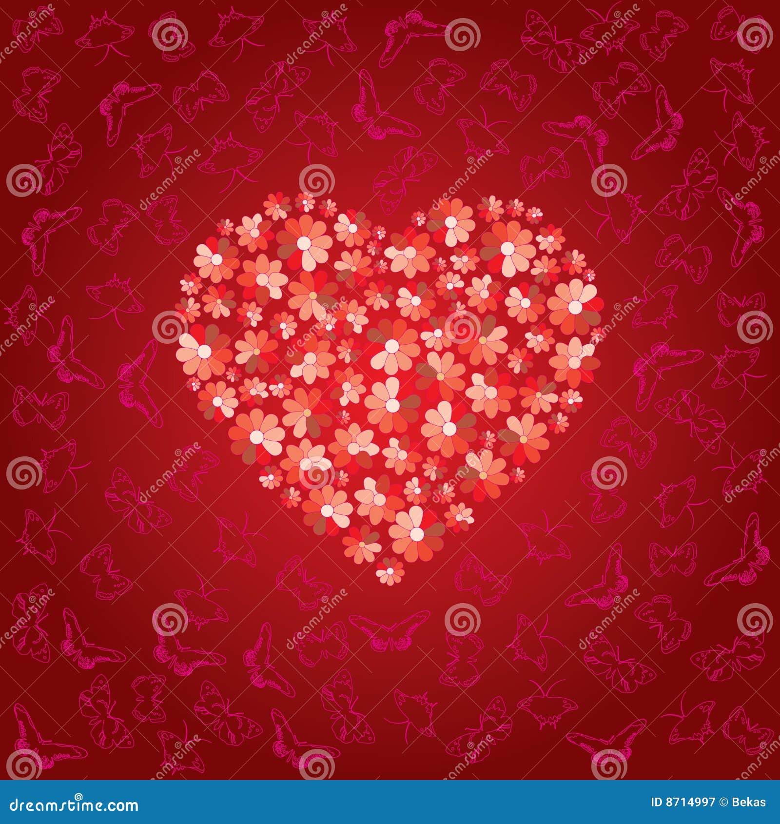 Il cuore rosso è riempito
