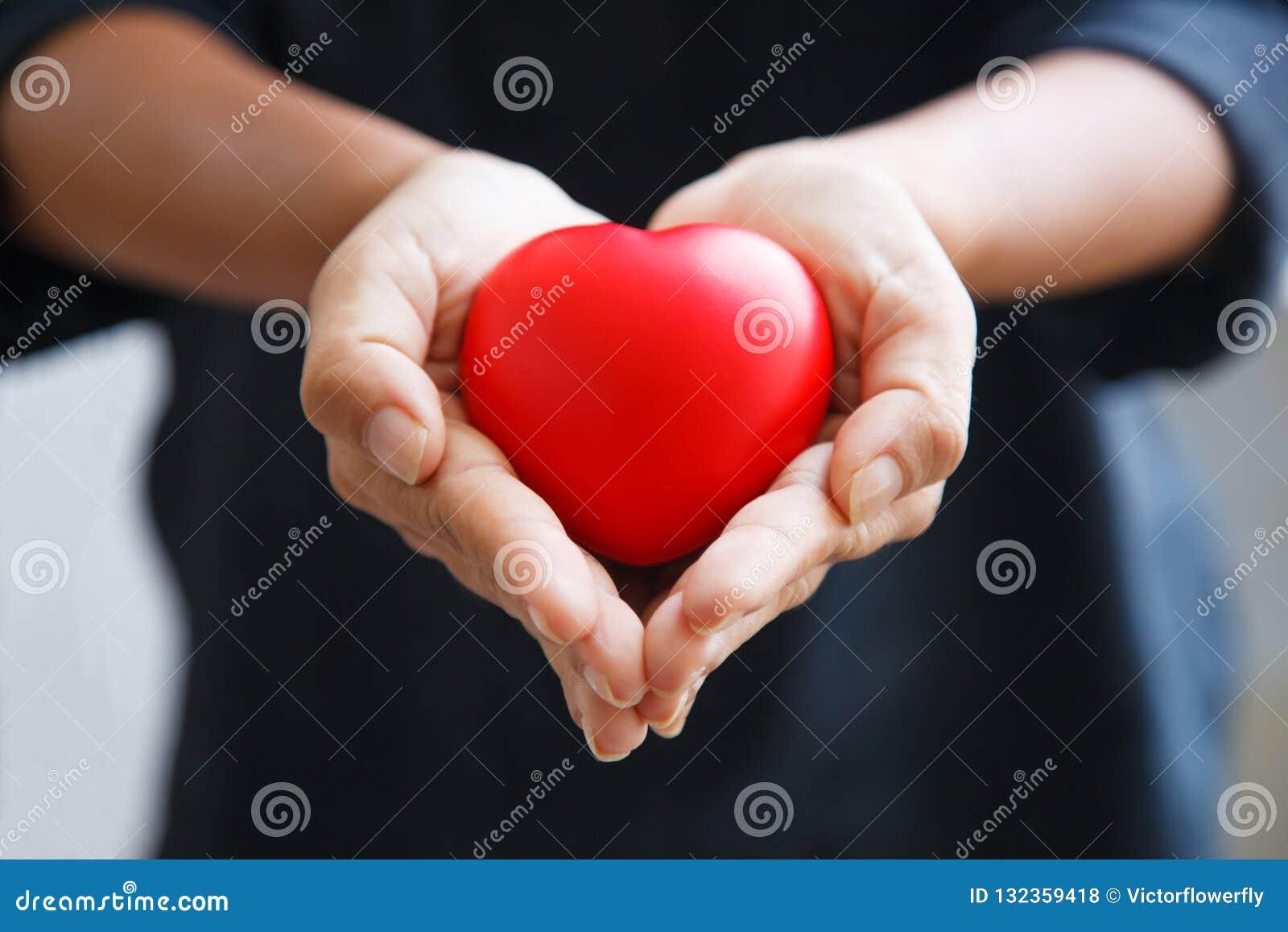 Il cuore rosso tenuto da entrambe le mani della femmina, rappresenta le mani amiche, preoccupantesi, l amore, la compassione, la