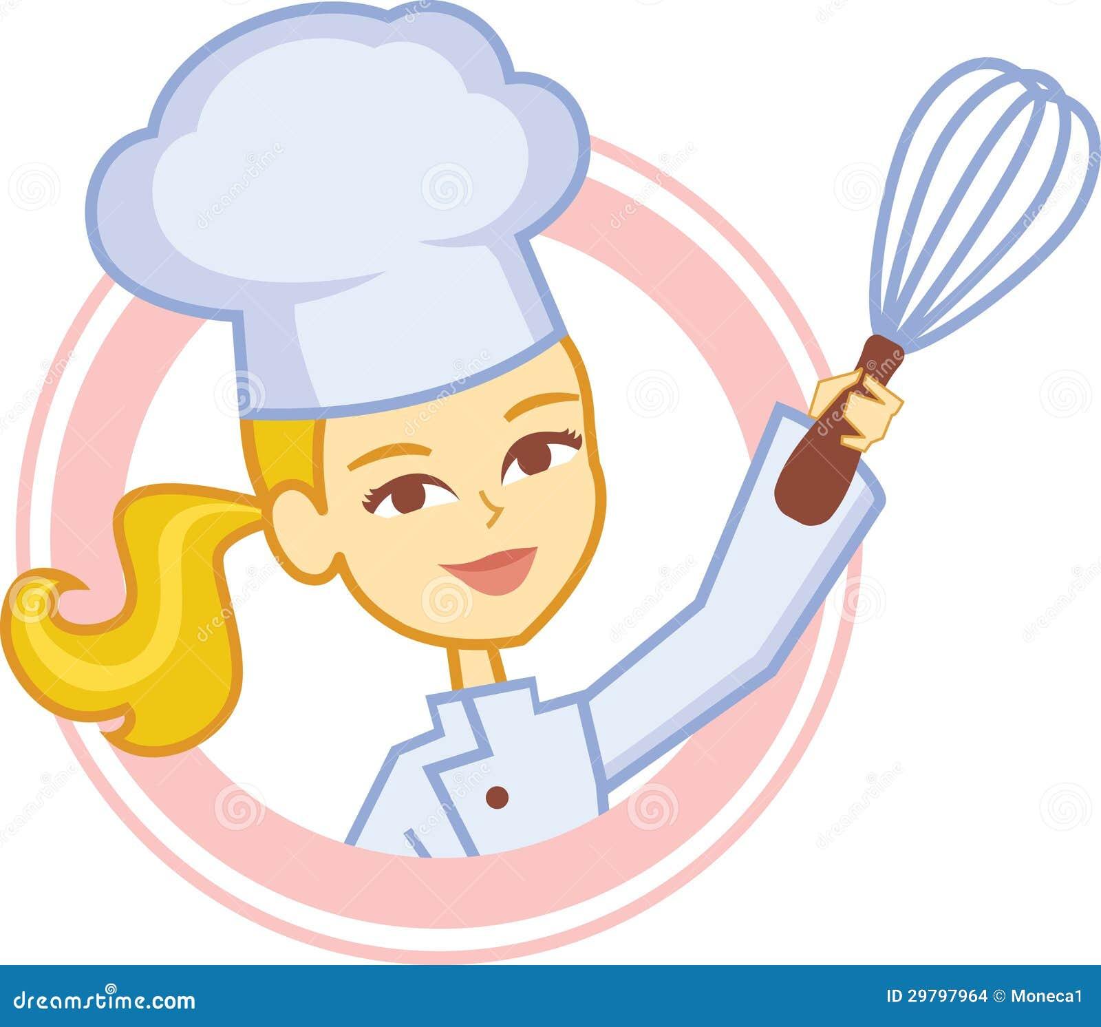 Immagini Stock: Logo del forno con il disegno di carattere del cuoco ...