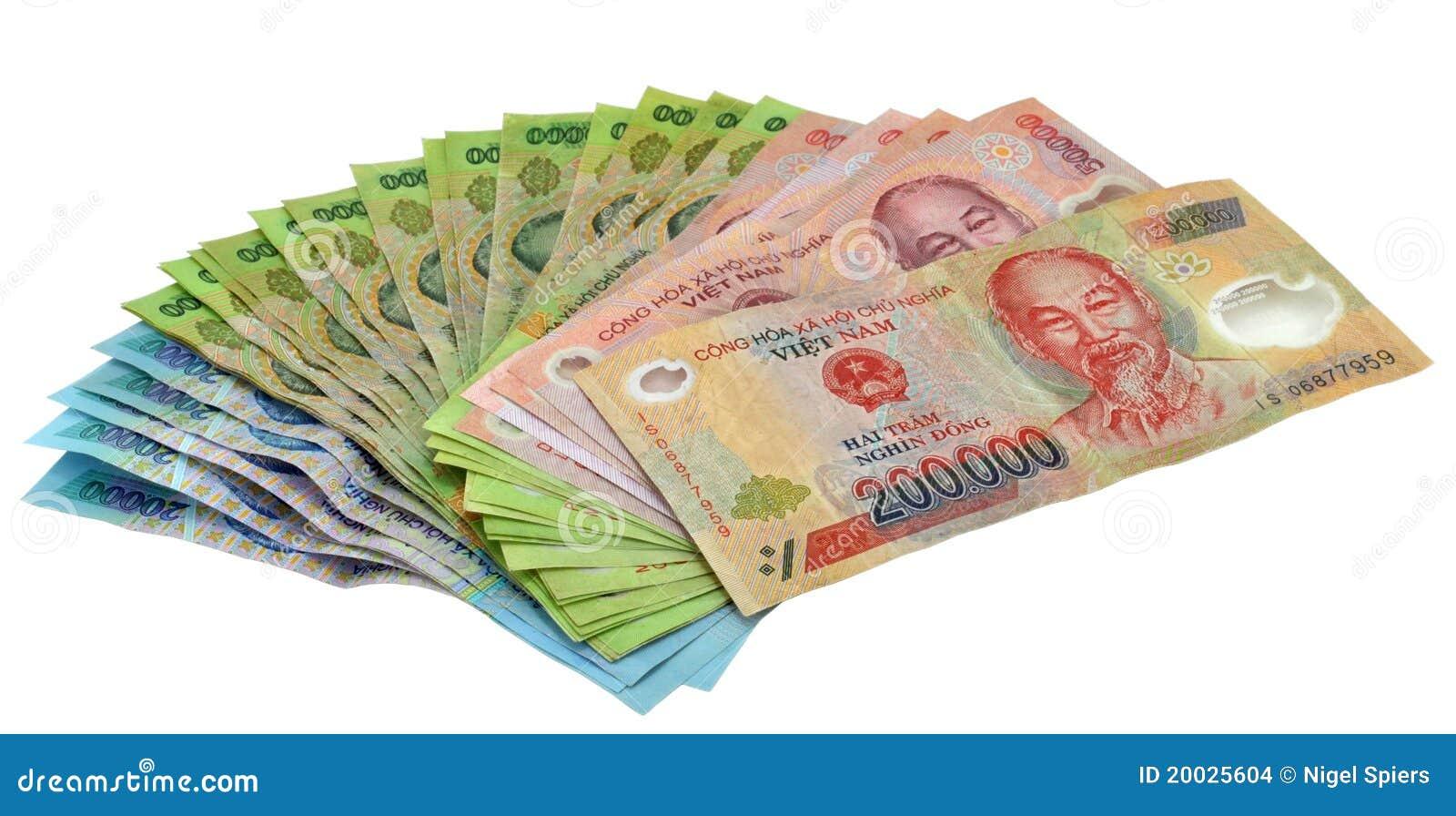 Il Dong Di Valuta Del Vietnam Nota I Soldi Fotografia Stock - Immagine di costruzione, cento ...