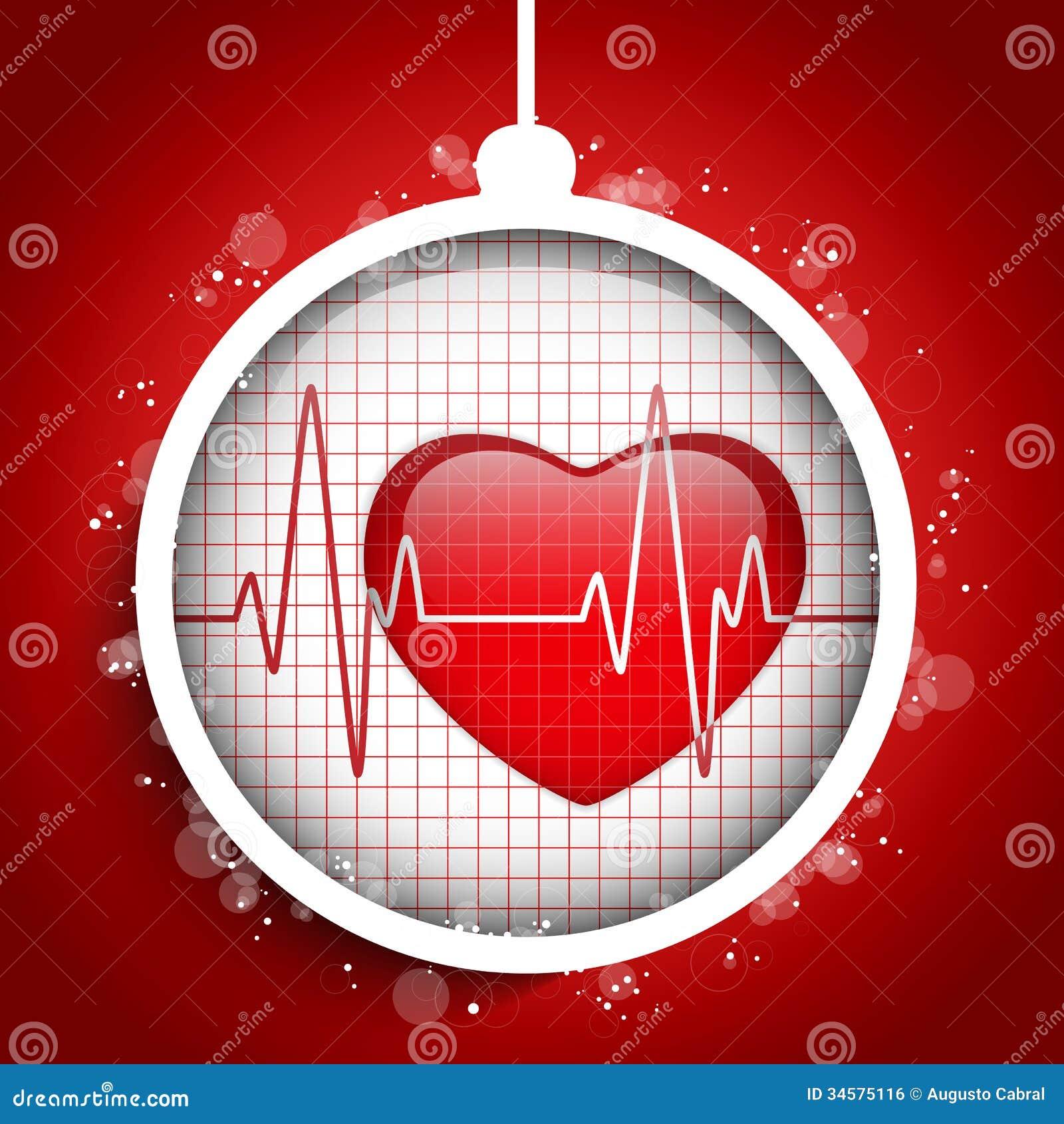 Auguri Di Natale Per Un Dottore.Il Dottore Hospital Heart Ball Di Buon Natale Illustrazione