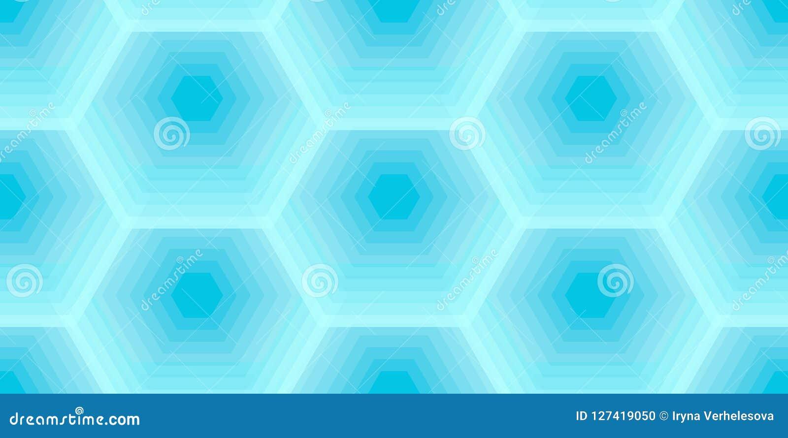 Il favo esagonale dell ape di colore blu, vector il modello senza cuciture