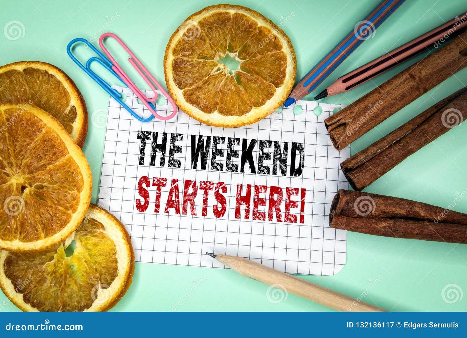 Il fine settimana comincia qui